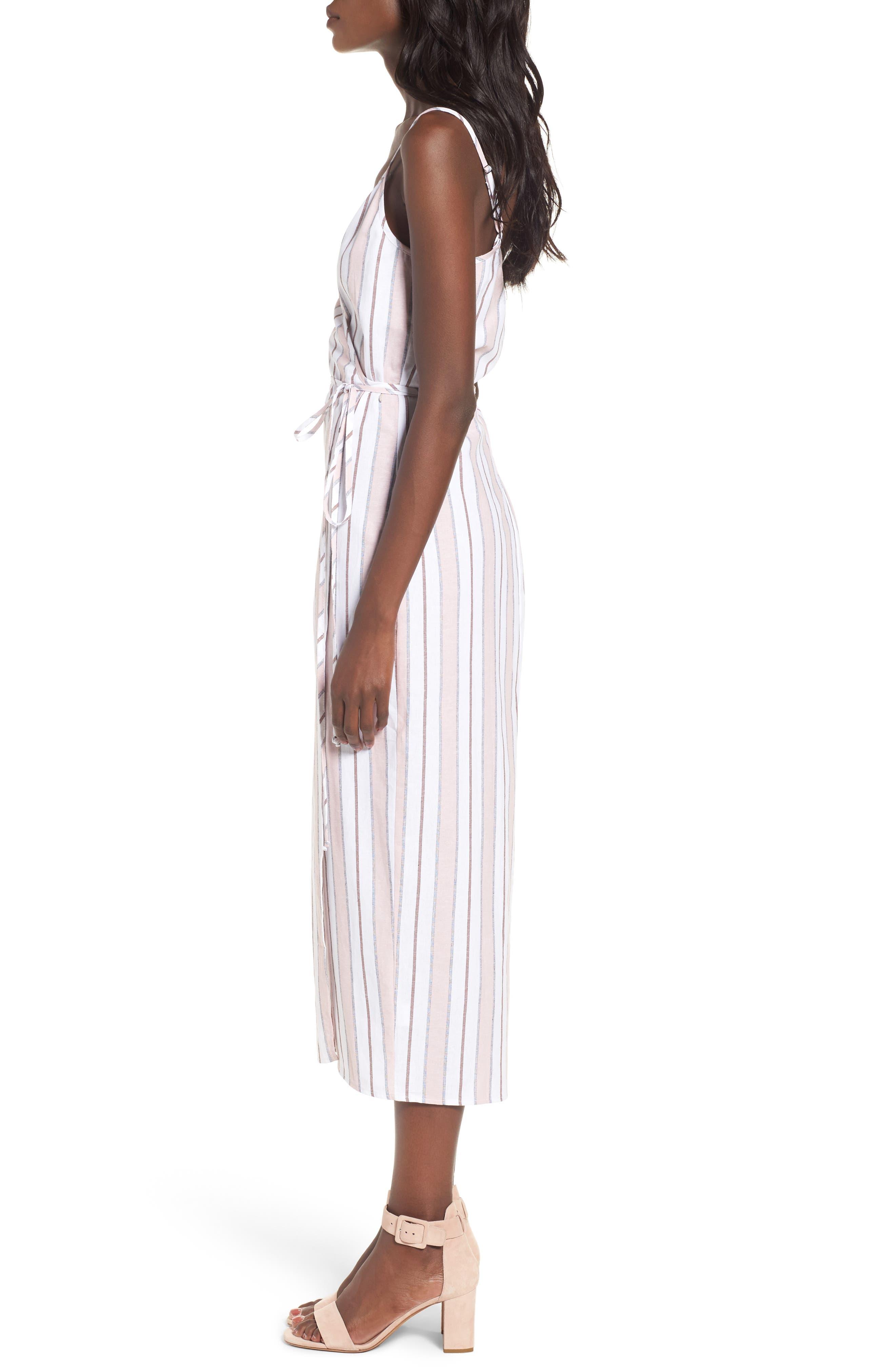 Wrap Midi Dress,                             Alternate thumbnail 11, color,