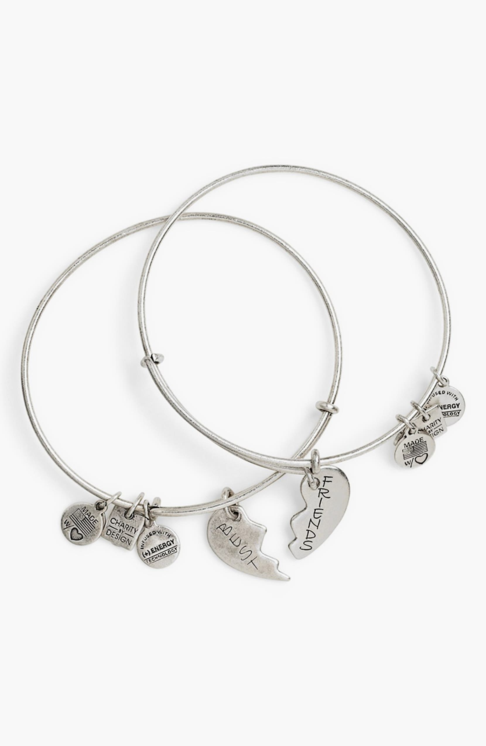Alex And Ani Charity By Design Best Friends Adjule Wire Bangles Set Of 2 Nordstrom