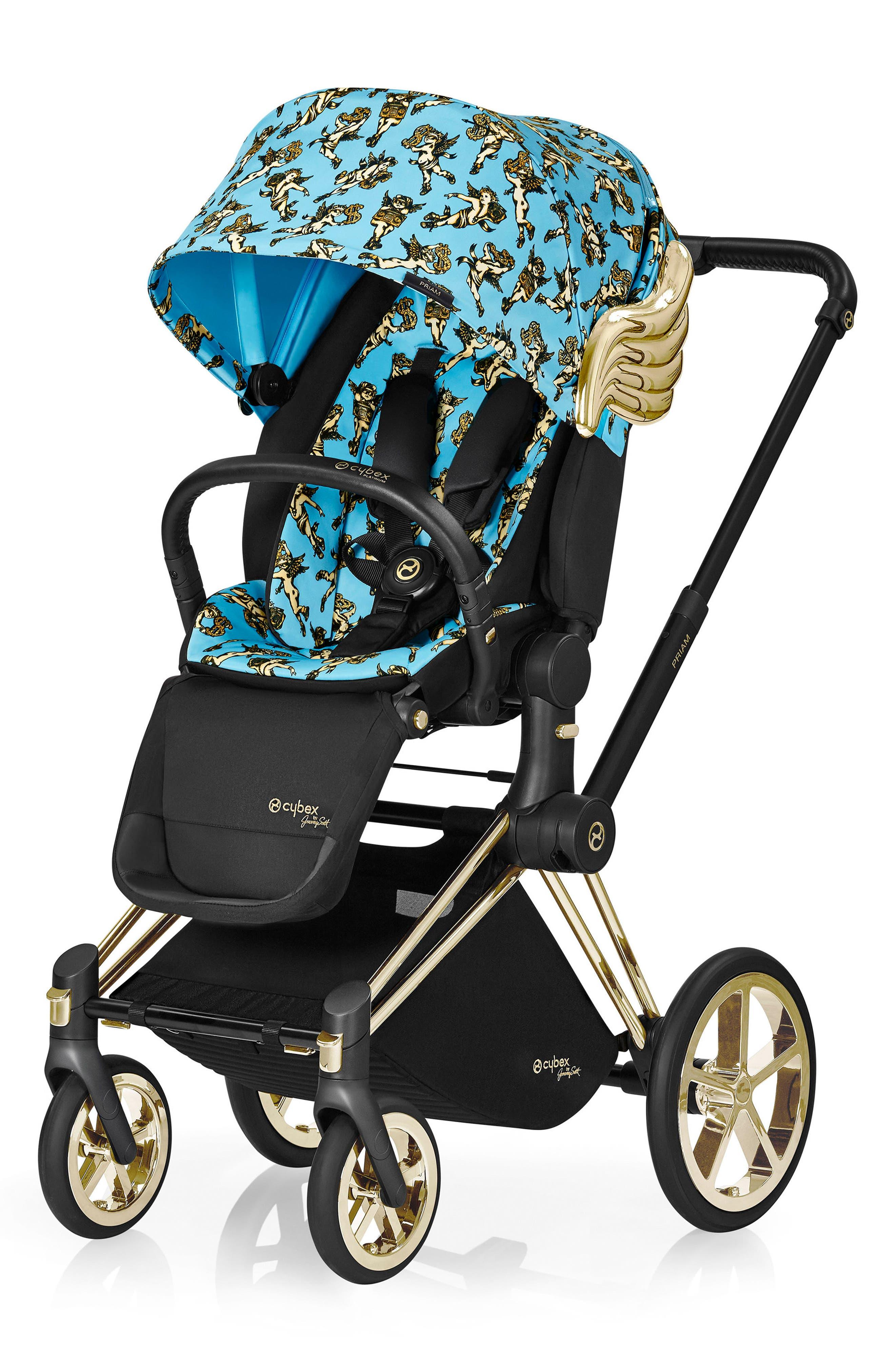 x Jeremy Scott Cherubs Priam Modular Stroller,                         Main,                         color, BLUE