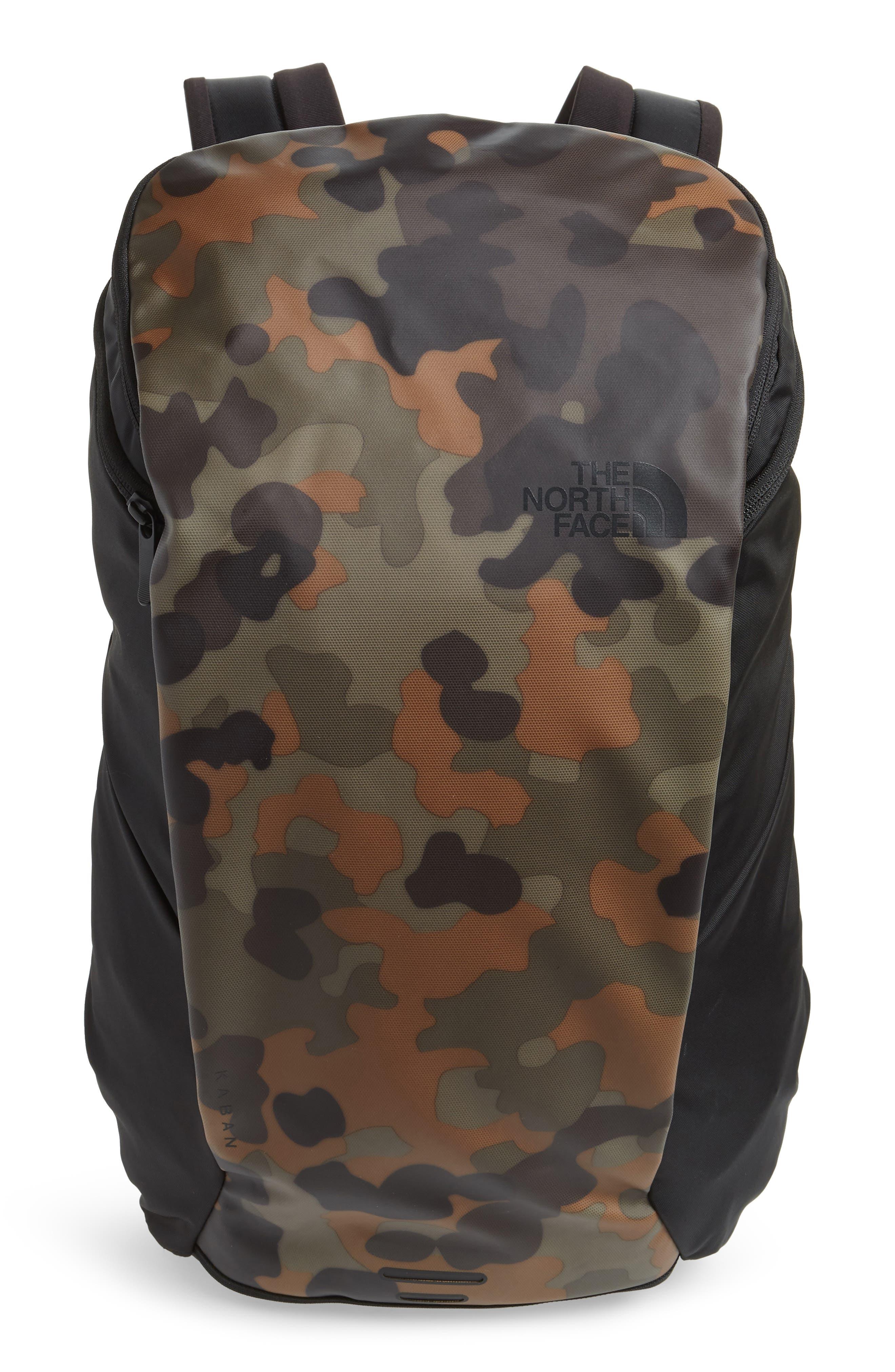 Ka-Ban Backpack,                         Main,                         color, TAUPE GREEN/ MACROFLECK PRINT