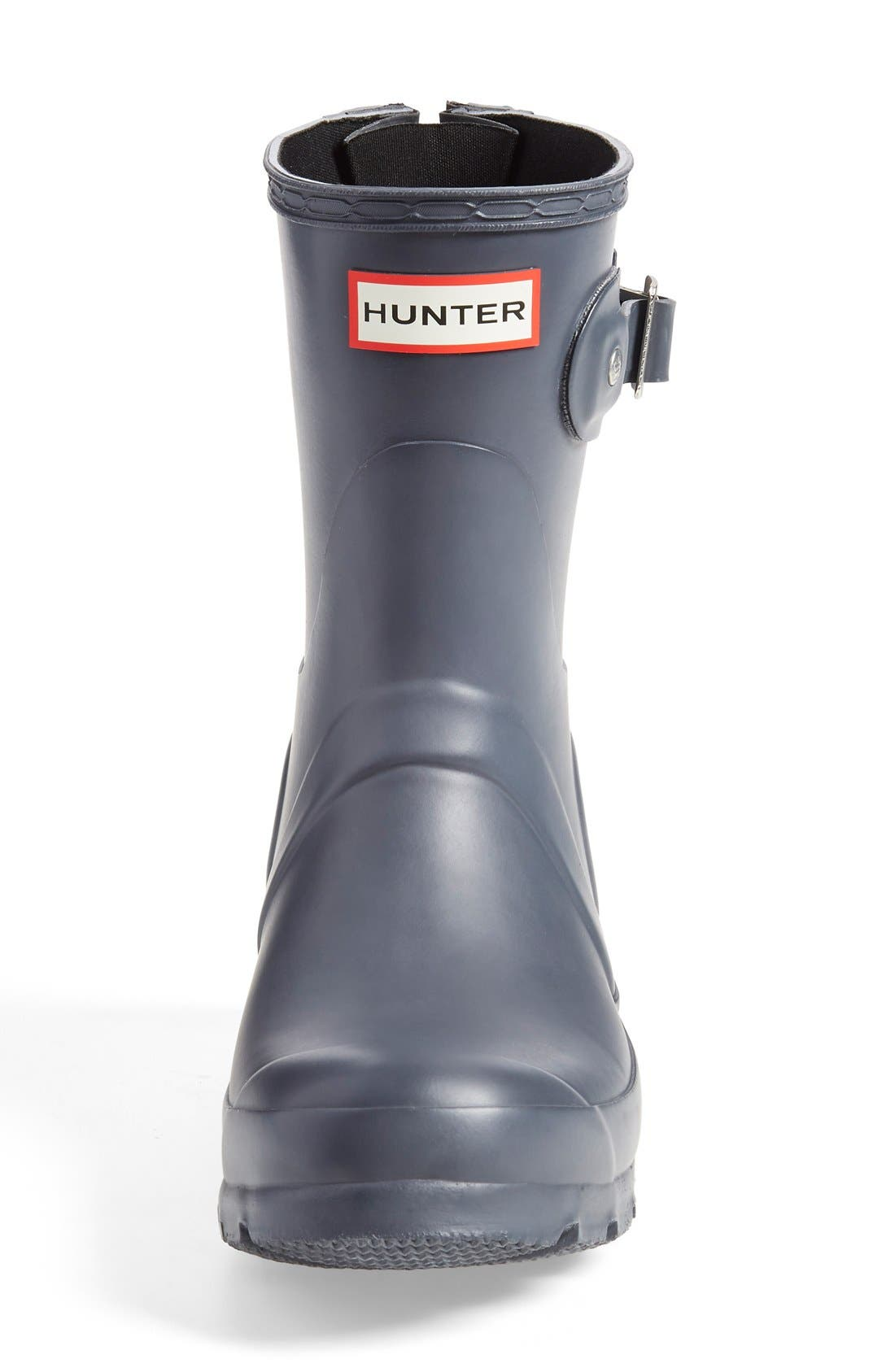'Short' Back Zip Rain Boot,                             Alternate thumbnail 3, color,                             024