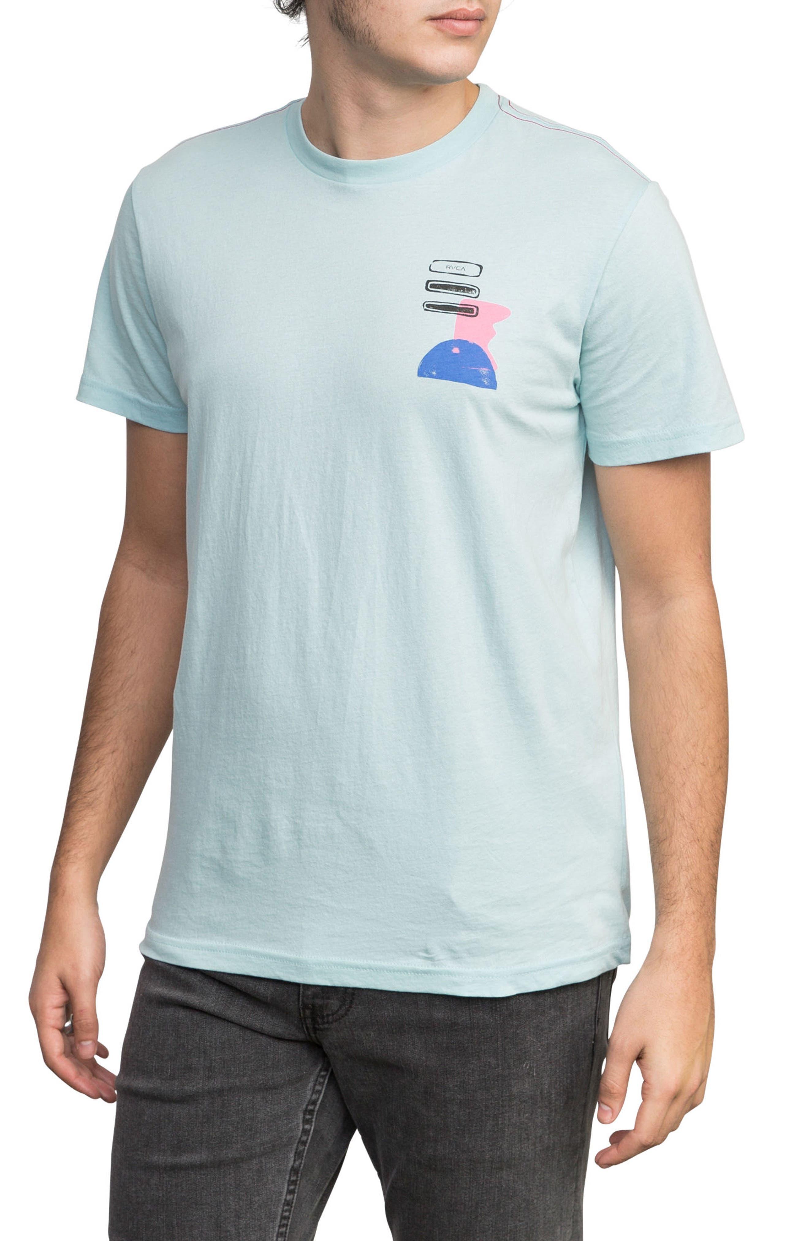 Block Print T-Shirt,                             Alternate thumbnail 3, color,                             COSMOS
