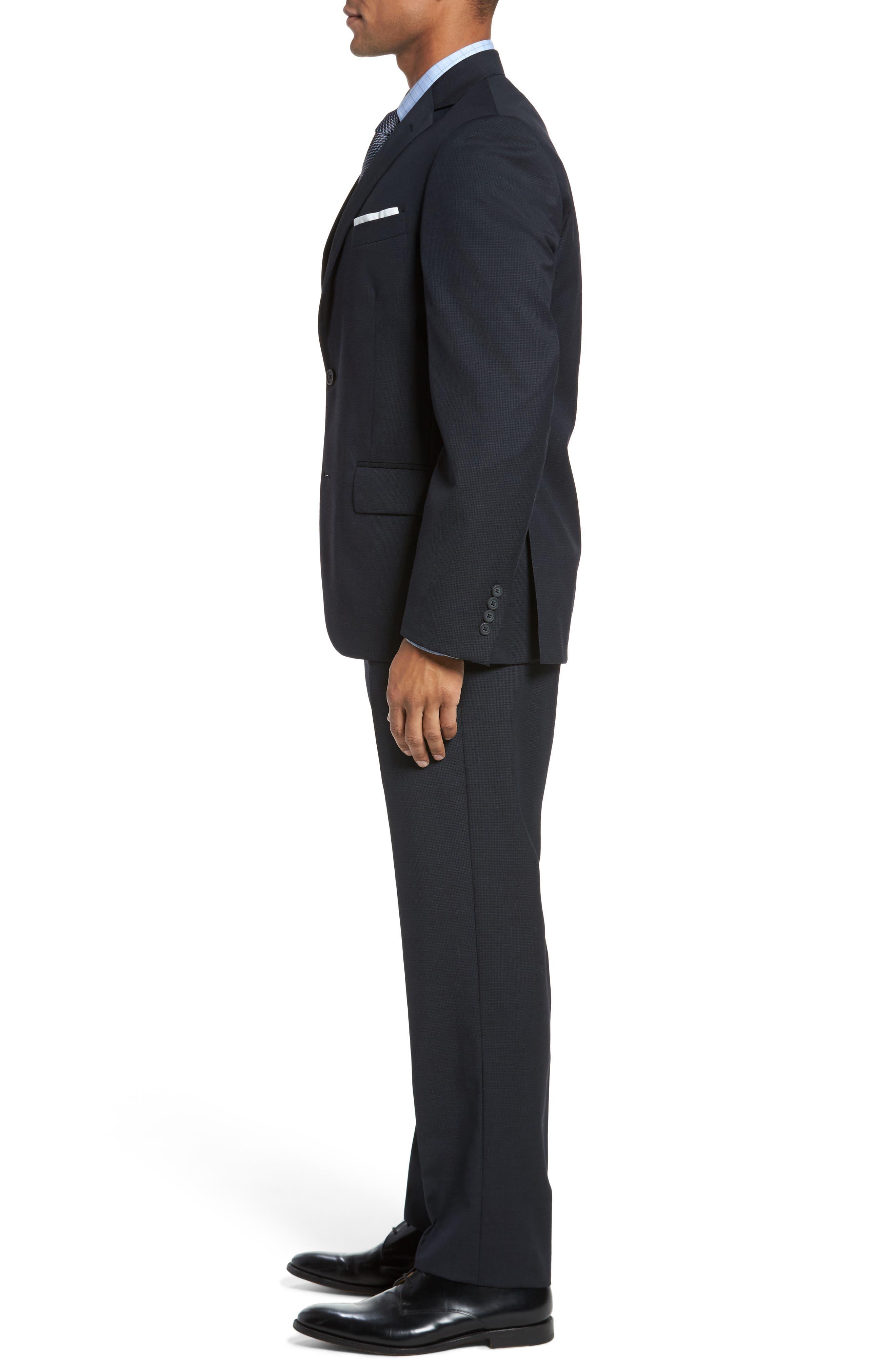 Classic Fit Check Wool Suit,                             Alternate thumbnail 11, color,