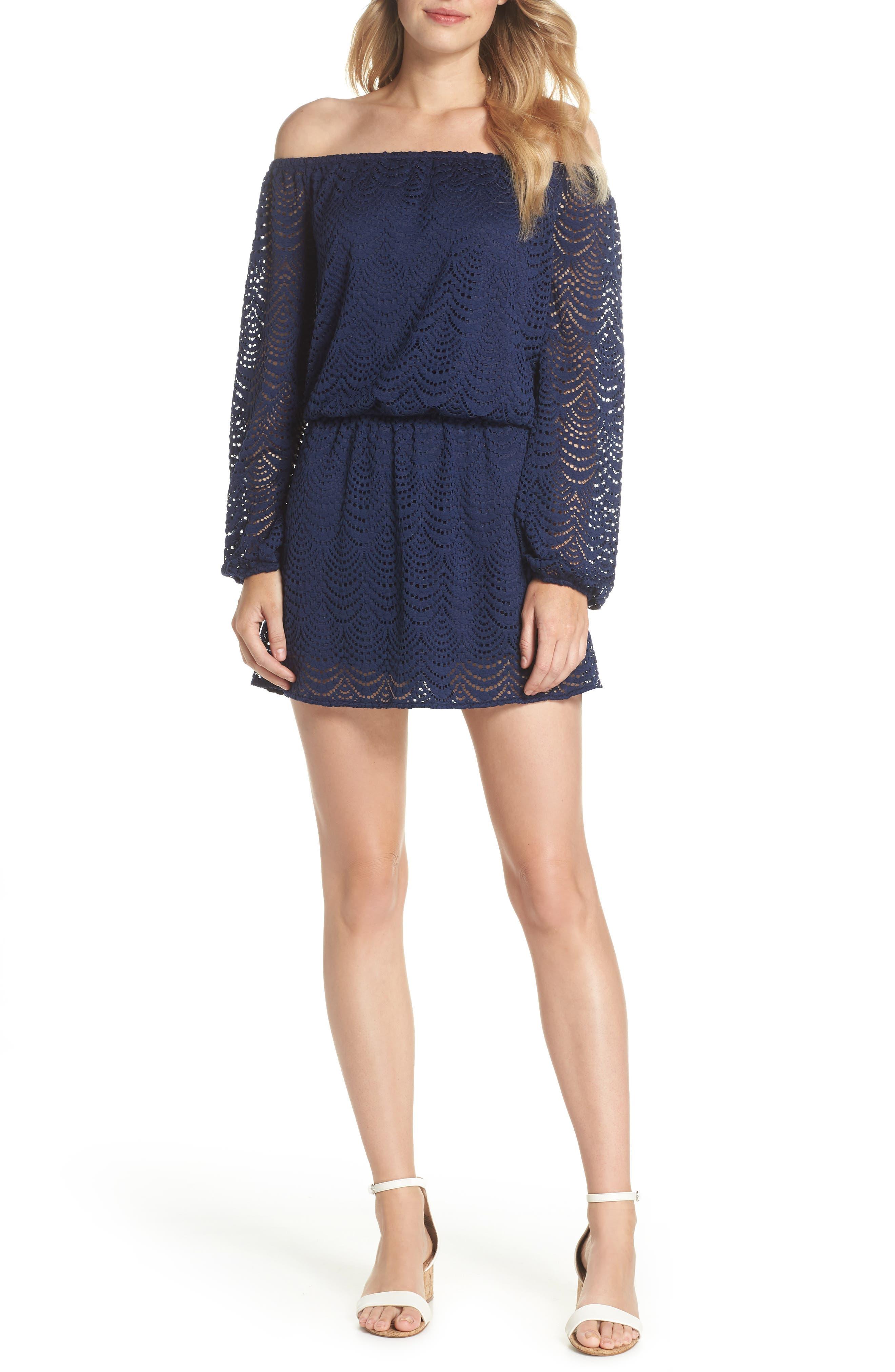 Lana Off the Shoulder Dress,                         Main,                         color, 408