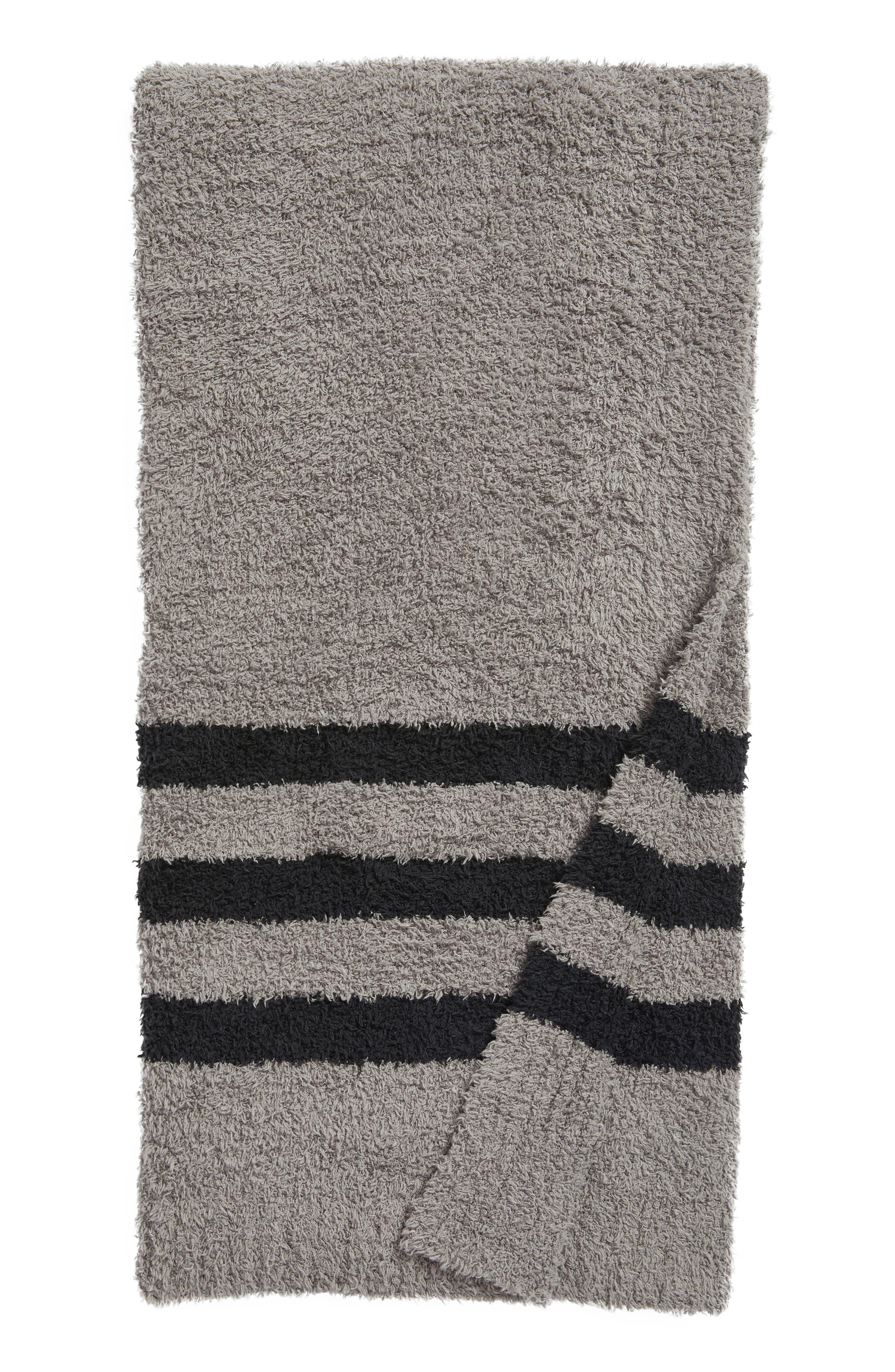 Barefoot Dreams Cozychic<sup>®</sup> Tri Stripe Throw Blanket,                             Main thumbnail 2, color,