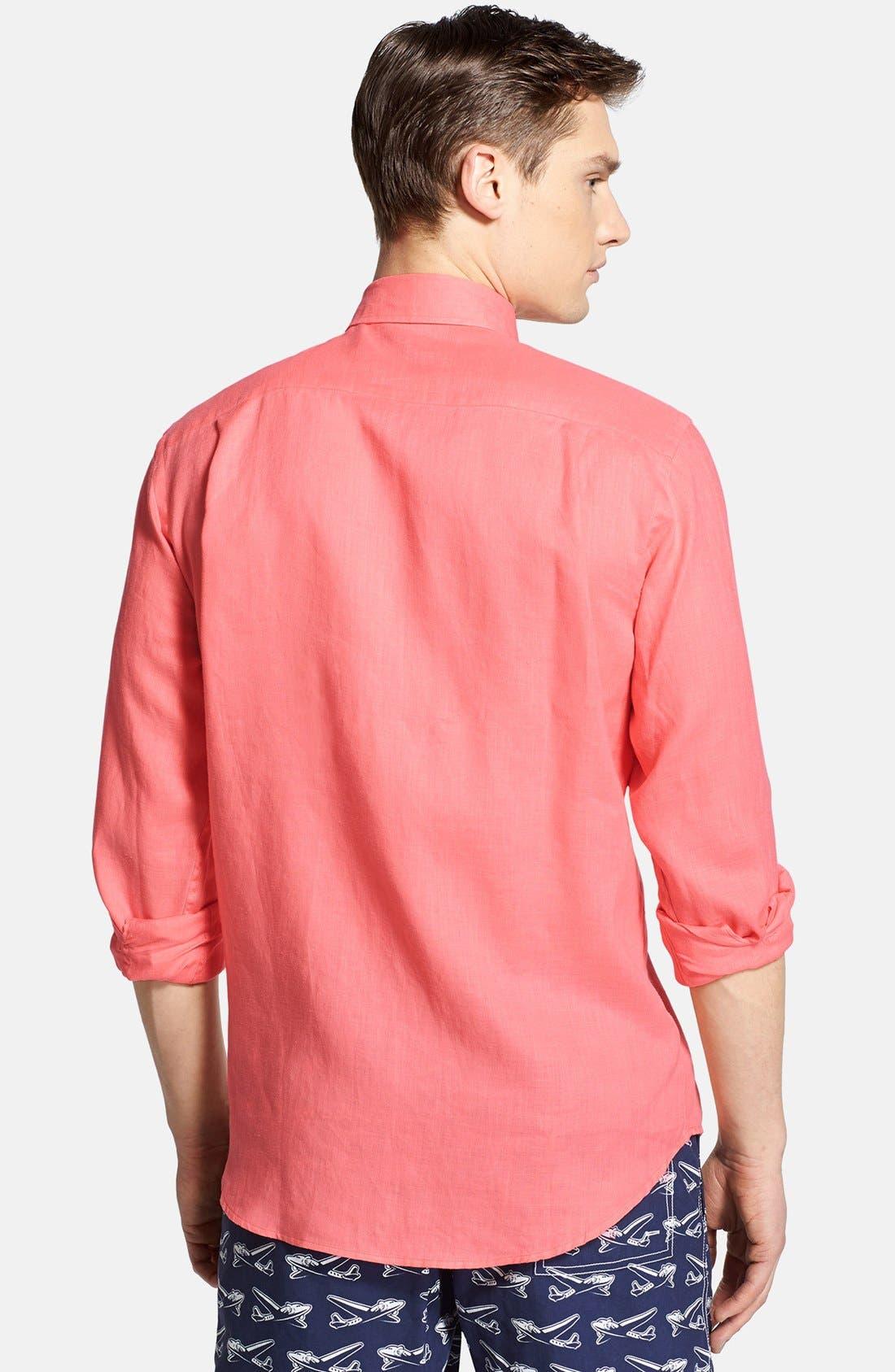 'Caroubier' Linen Shirt,                             Alternate thumbnail 39, color,