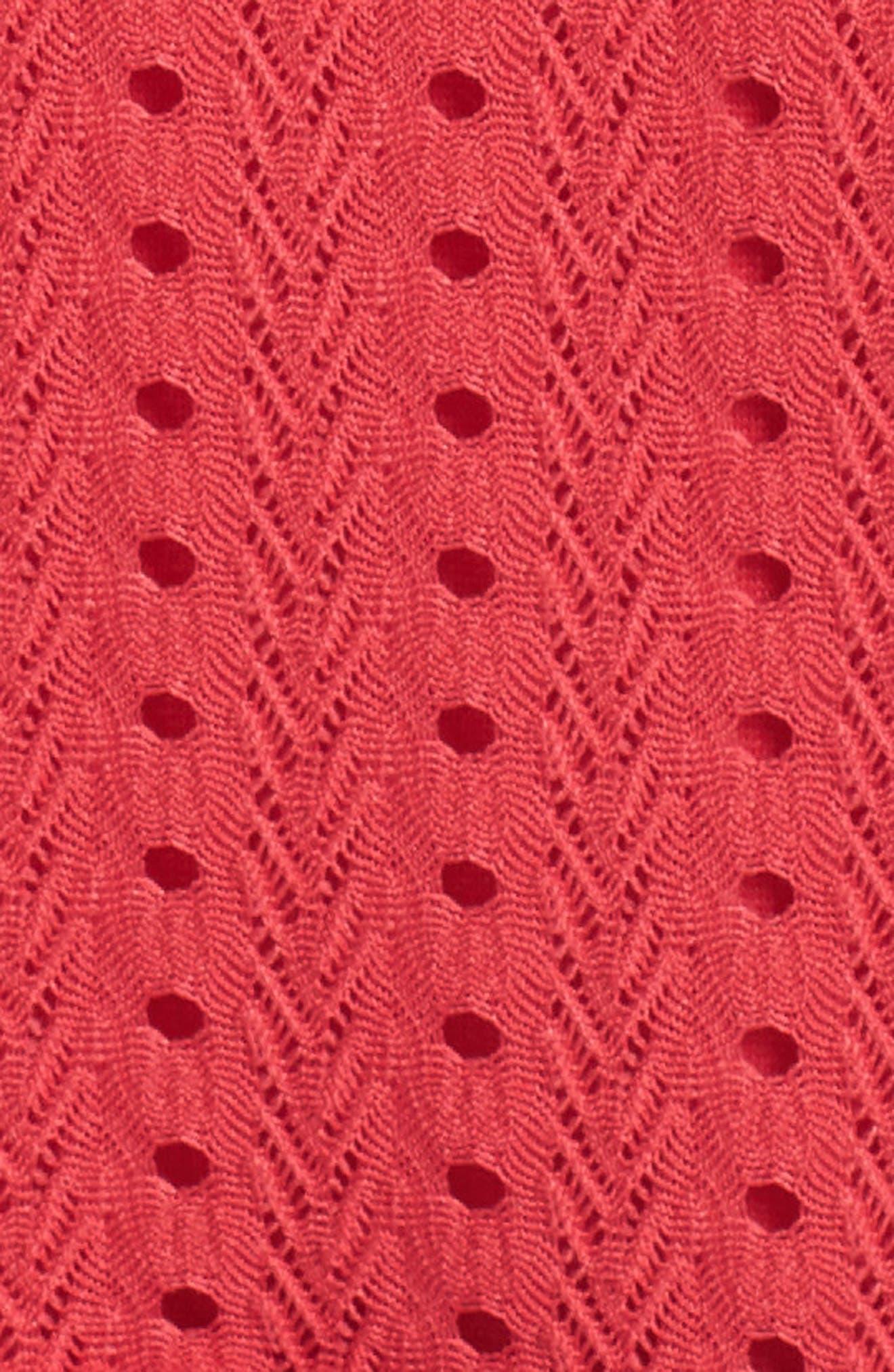 Sleeveless Ruffle Knit Sheath Dress,                             Alternate thumbnail 6, color,                             600