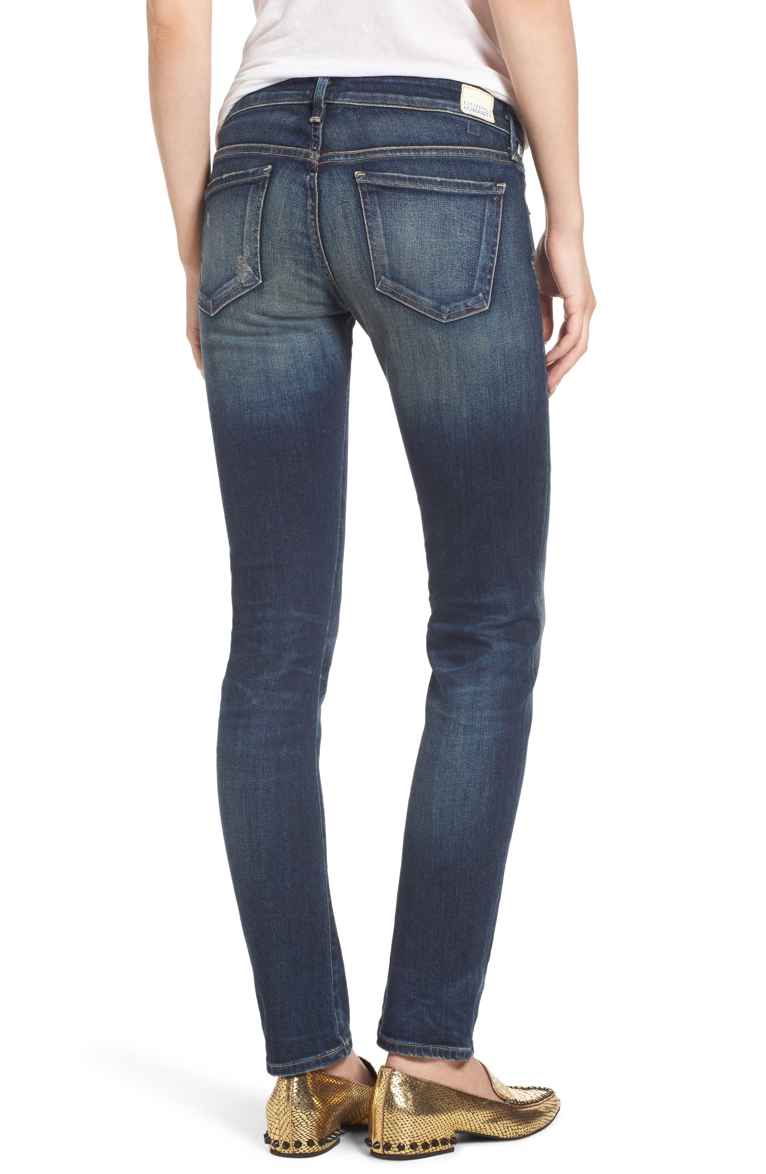 Racer Whiskered Skinny Jeans,                             Alternate thumbnail 2, color,                             403