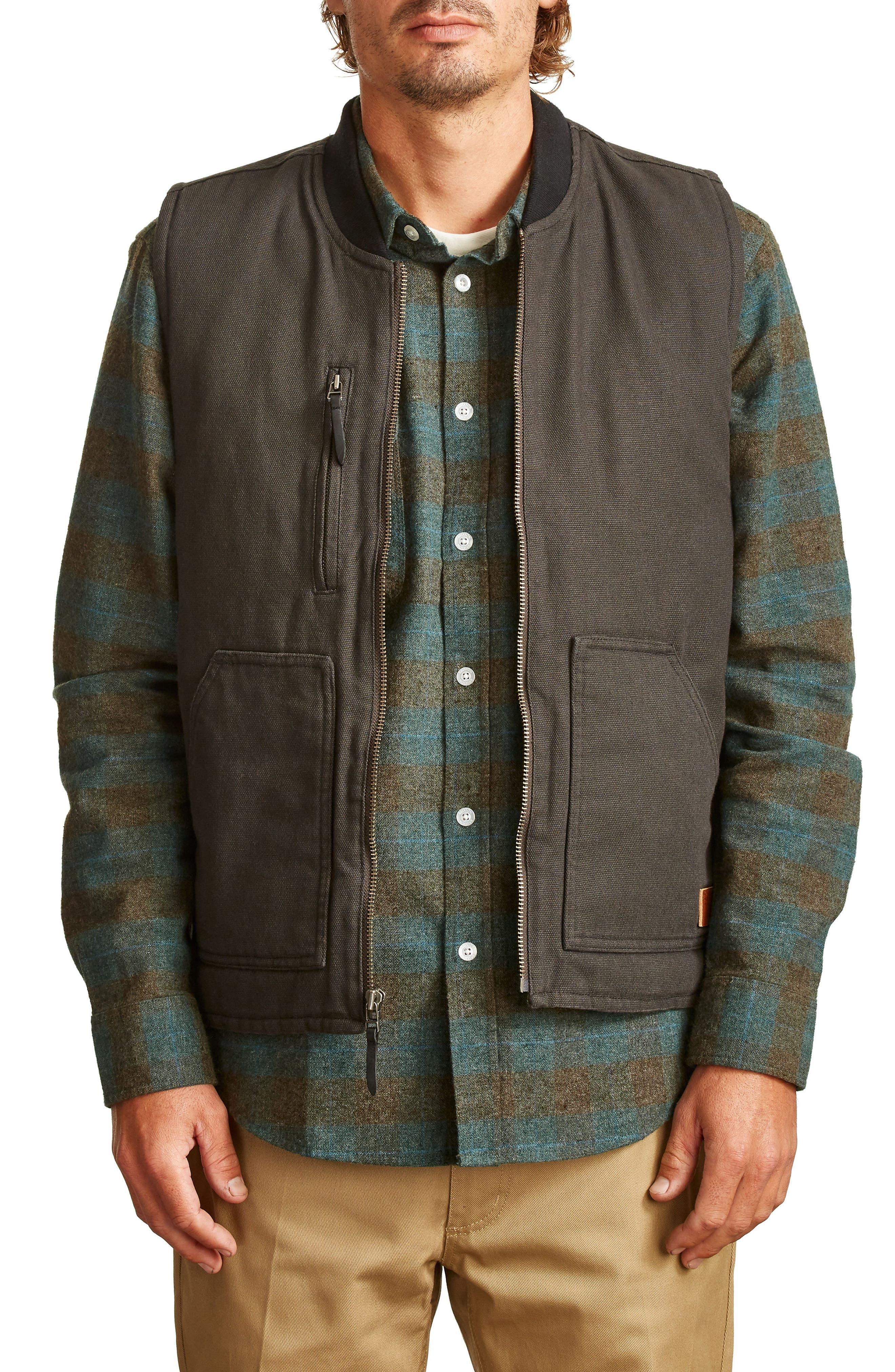 Abraham Water Resistant Vest,                             Main thumbnail 1, color,                             050