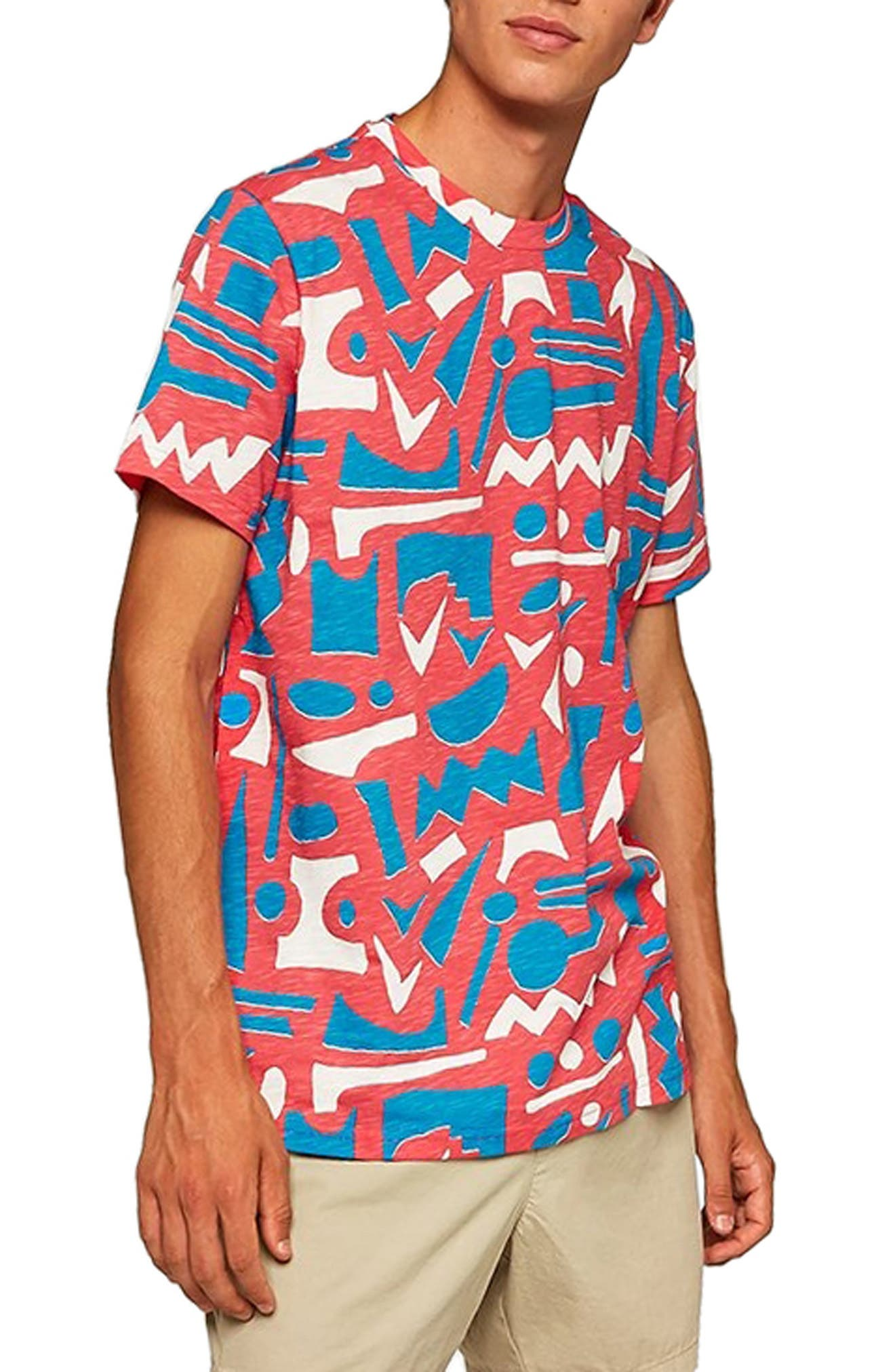 Geo Print T-Shirt,                             Alternate thumbnail 3, color,                             650