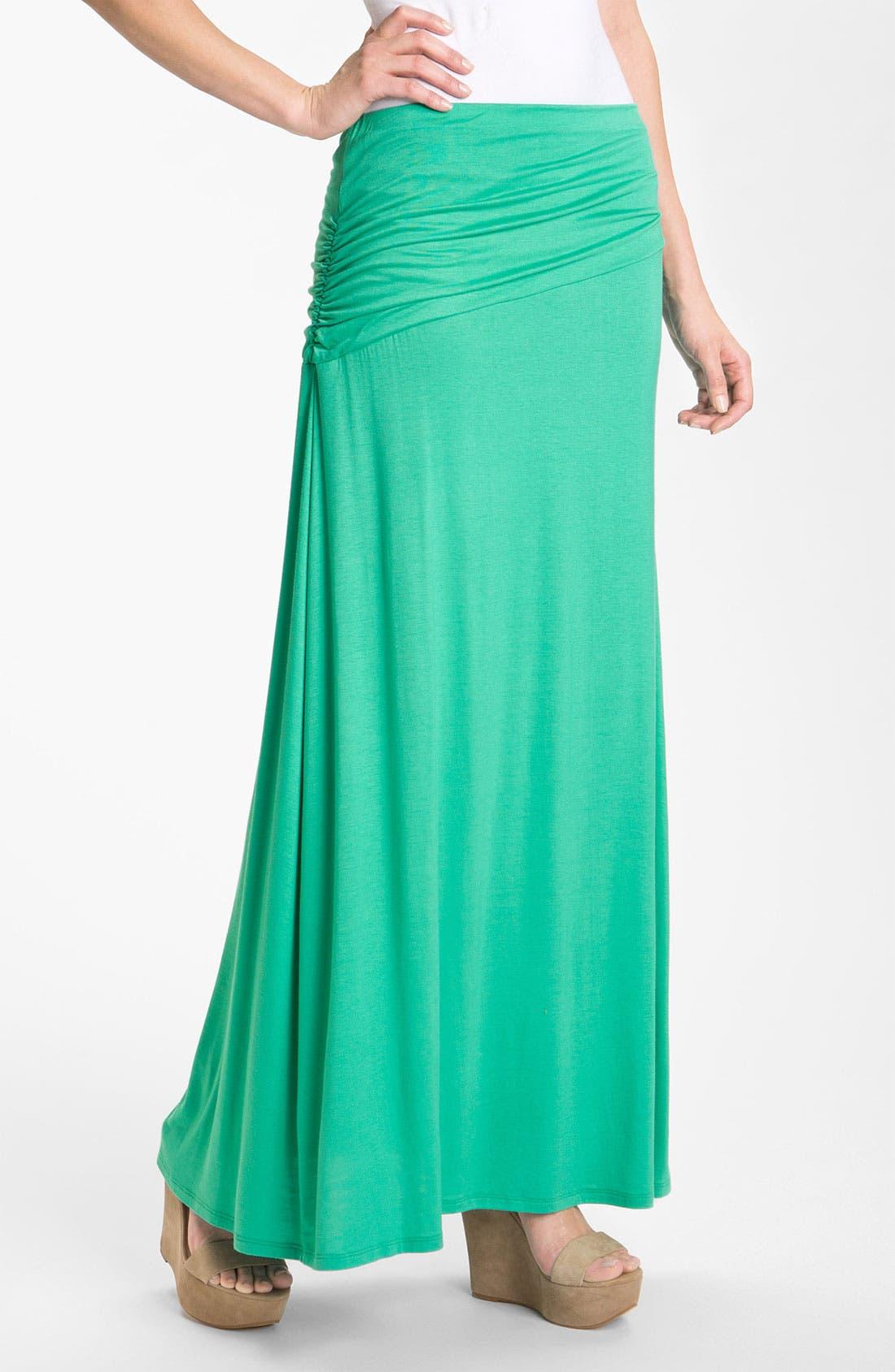 Asymmetric Knit Maxi Skirt,                             Main thumbnail 5, color,