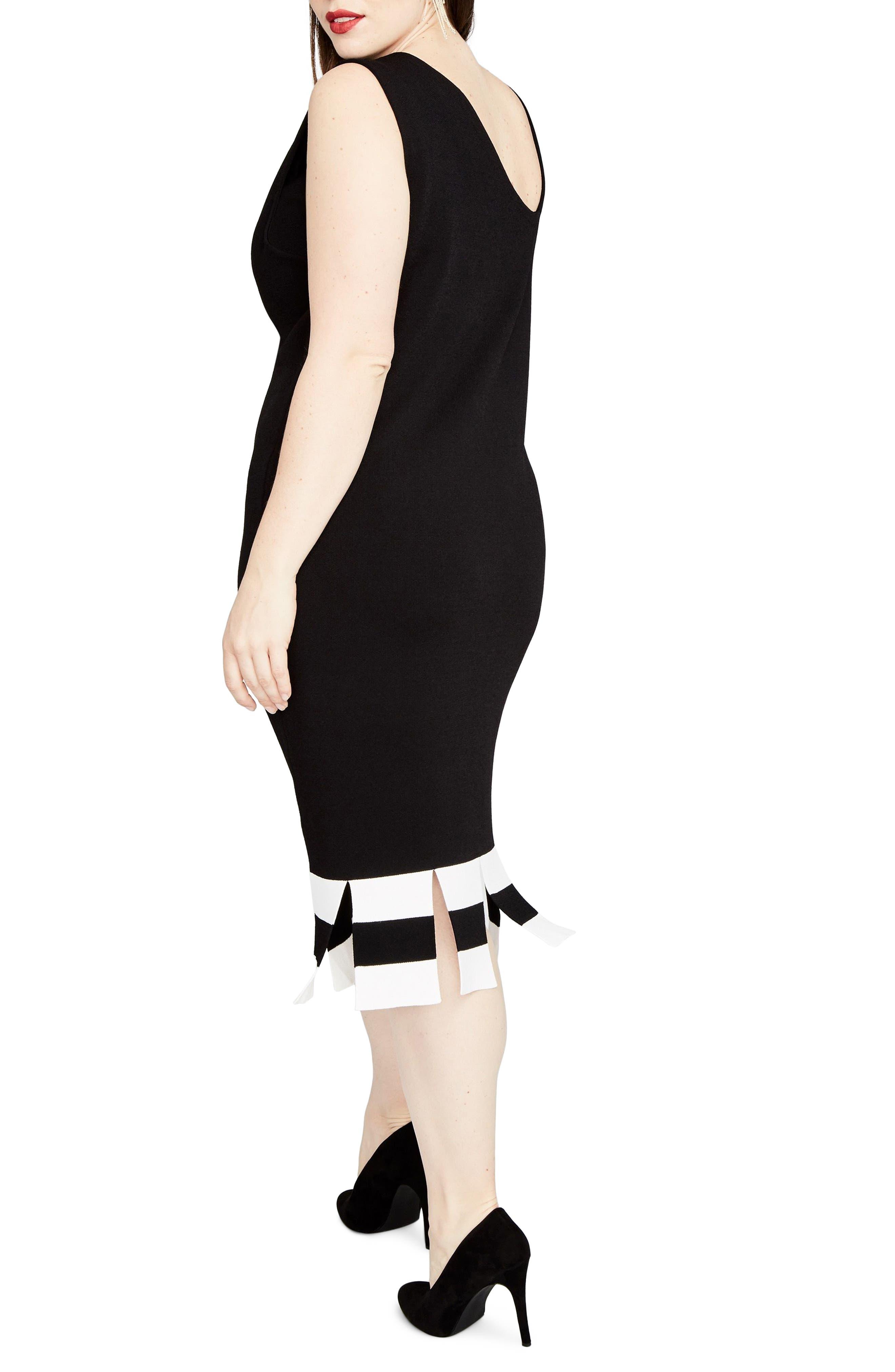 Stripe Carwash Hem Dress,                             Alternate thumbnail 2, color,                             001