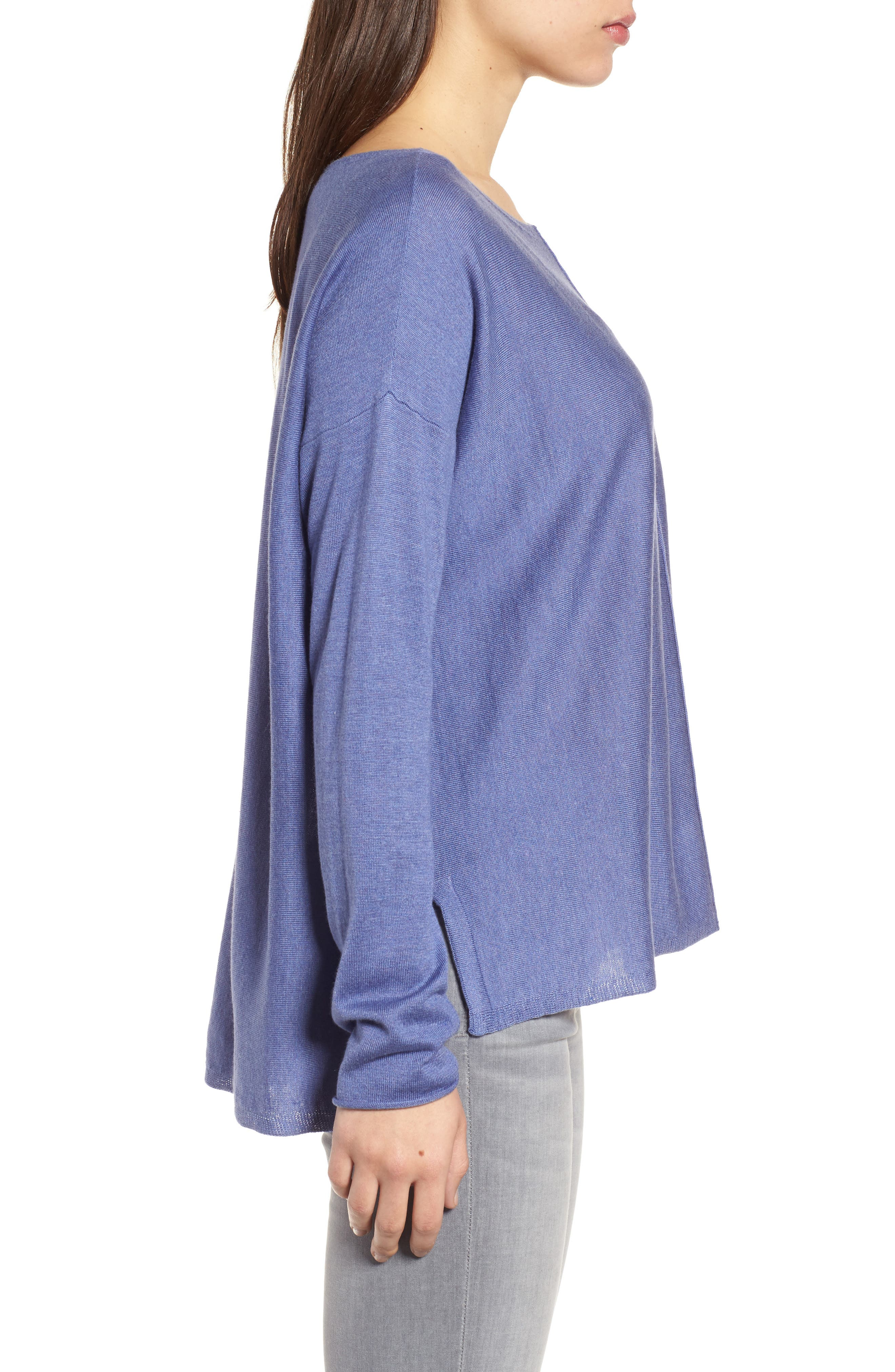 Tencel<sup>®</sup> Lyocell Blend High/Low Sweater,                             Alternate thumbnail 15, color,