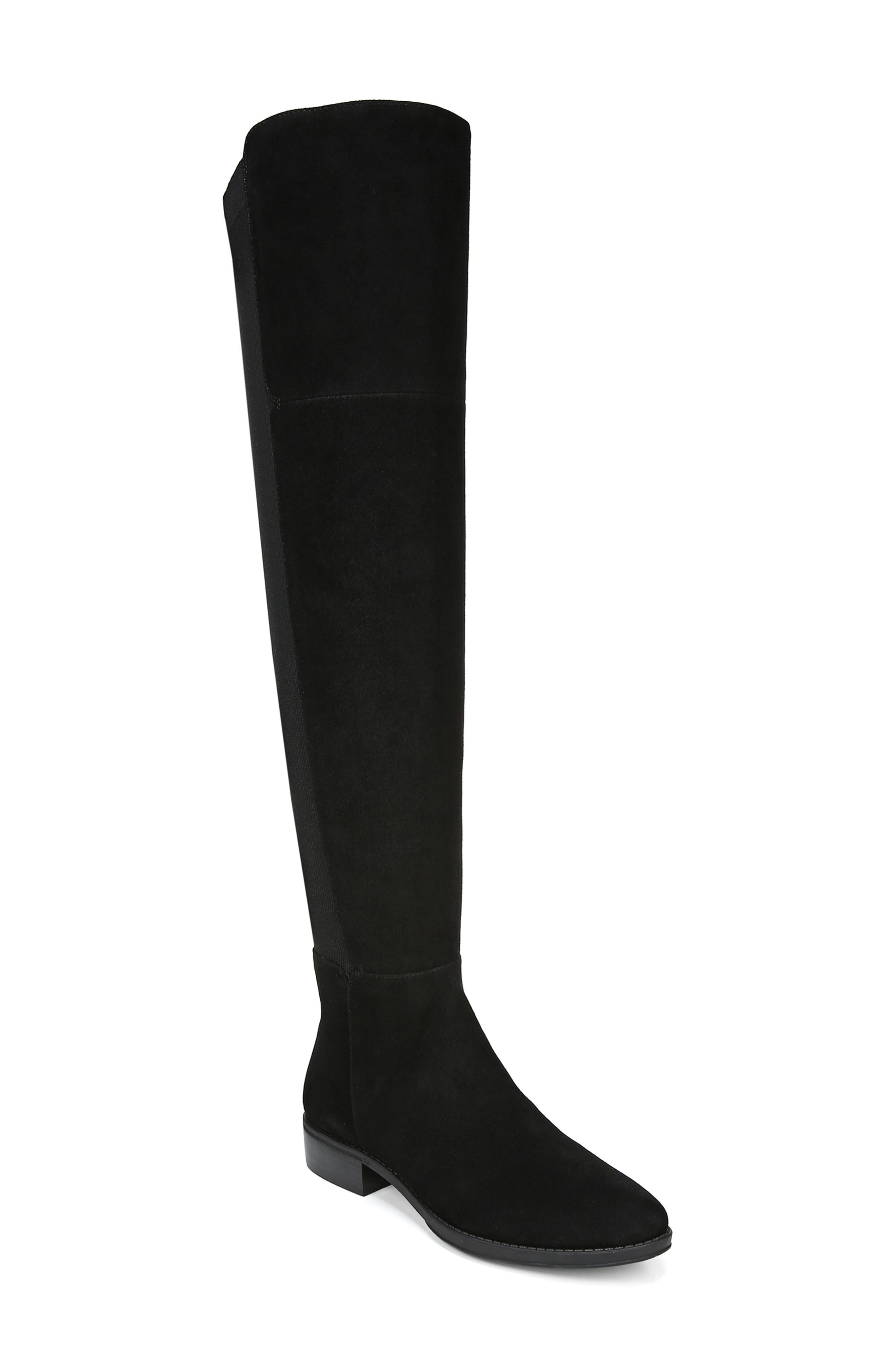 Pam Over the Knee Boot, Main, color, BLACK SUEDE