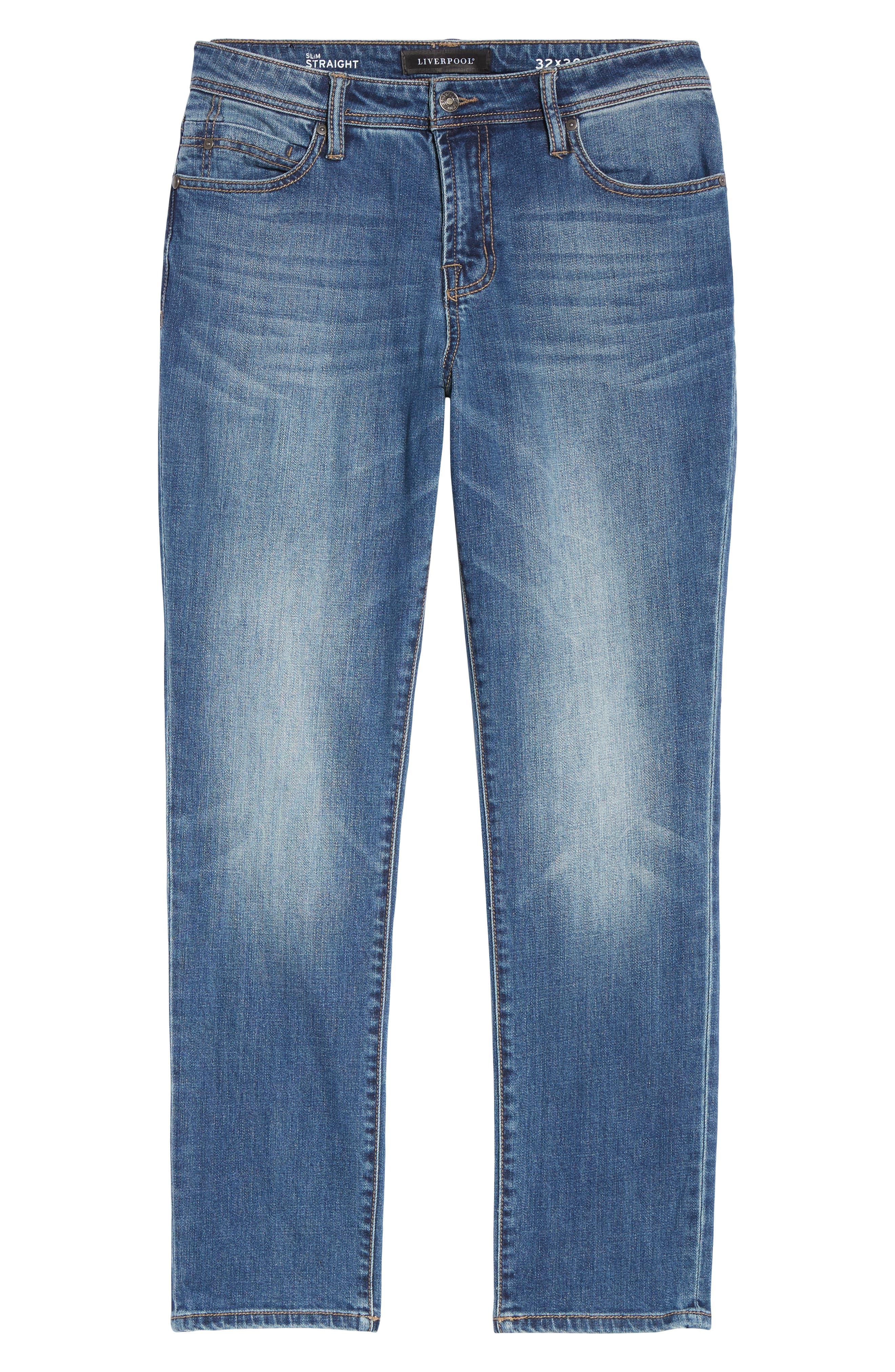 Jeans Co. Slim Straight Leg Jeans,                             Alternate thumbnail 6, color,                             BRYSON VINTAGE MED