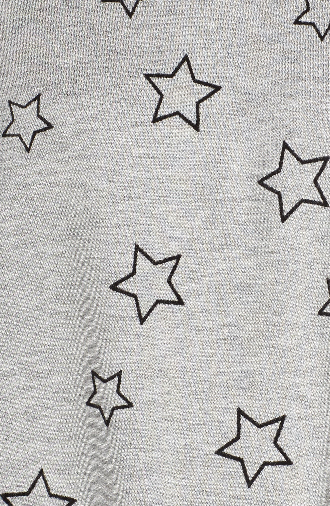Seeing Stars Top,                             Alternate thumbnail 5, color,                             HEATHER GREY