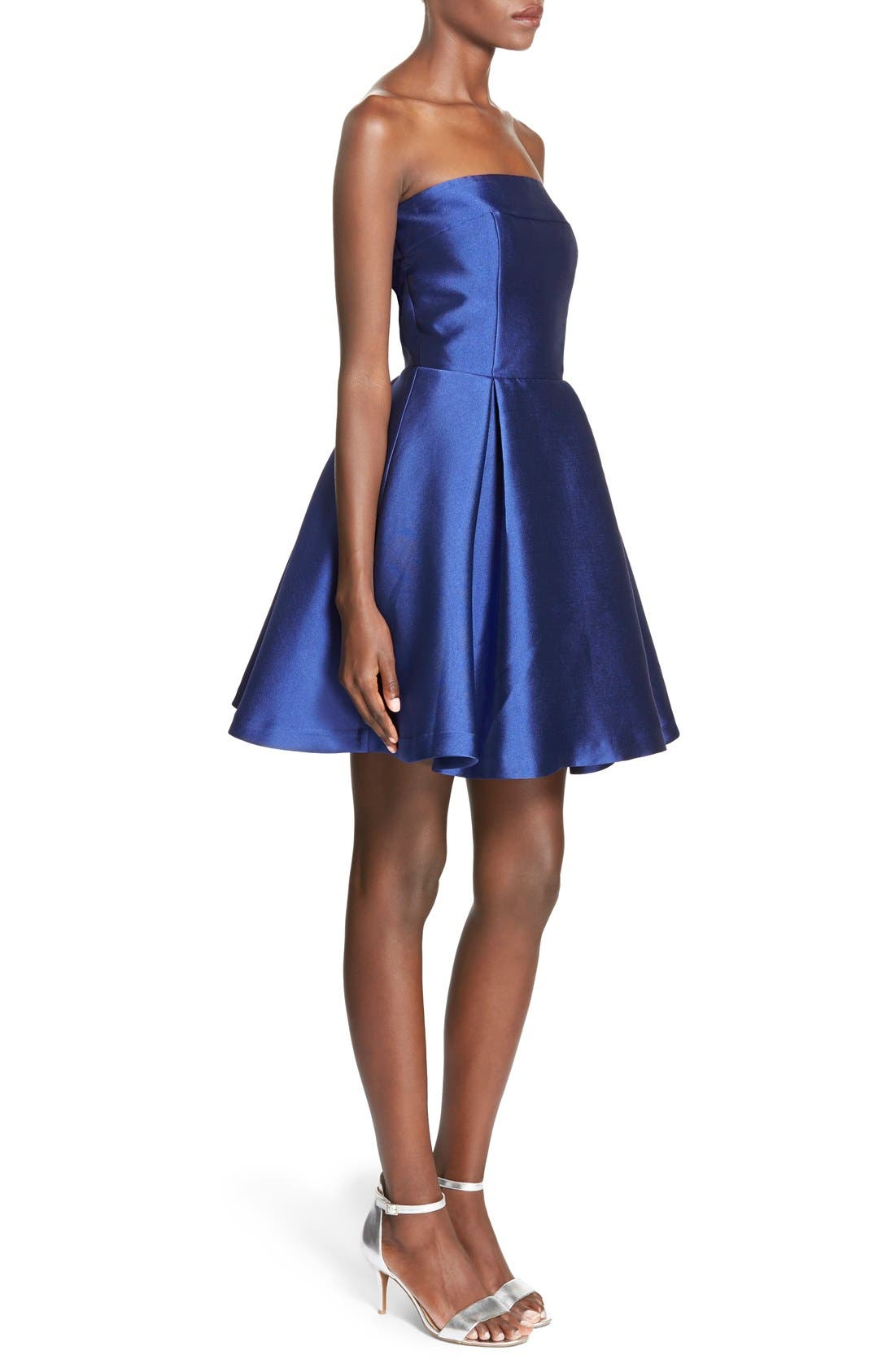Bow Back Fit & Flare Dress,                             Alternate thumbnail 3, color,                             421