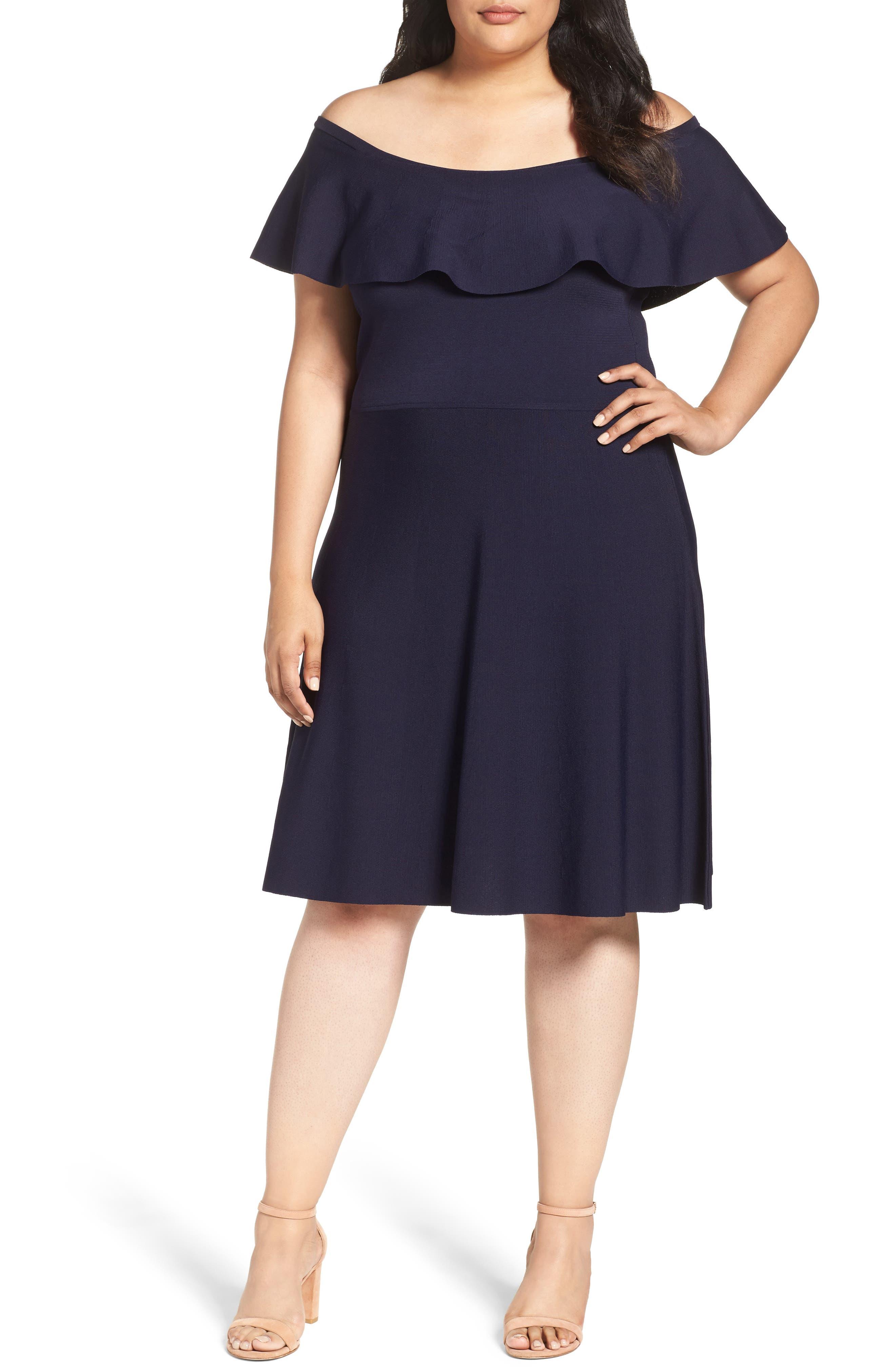 Off the Shoulder Dress, Main, color, 410