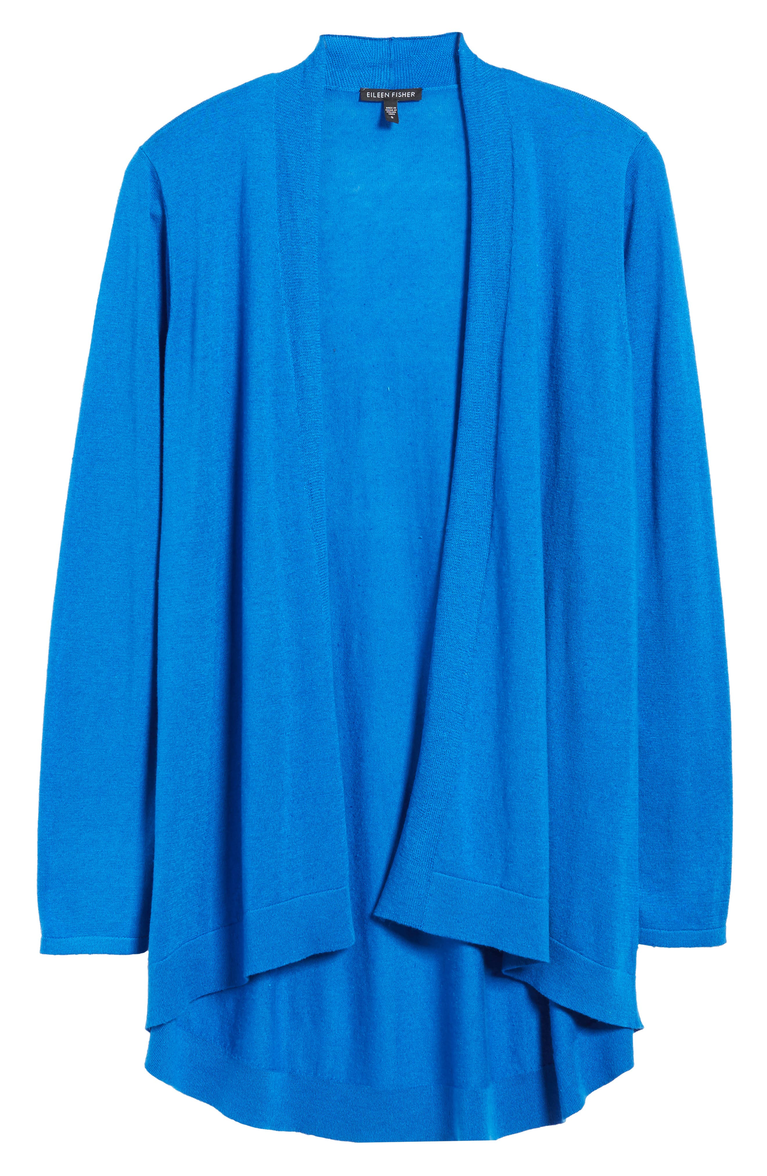 Tie Waist Tencel<sup>®</sup> Lyocell Blend Cardigan,                             Alternate thumbnail 35, color,