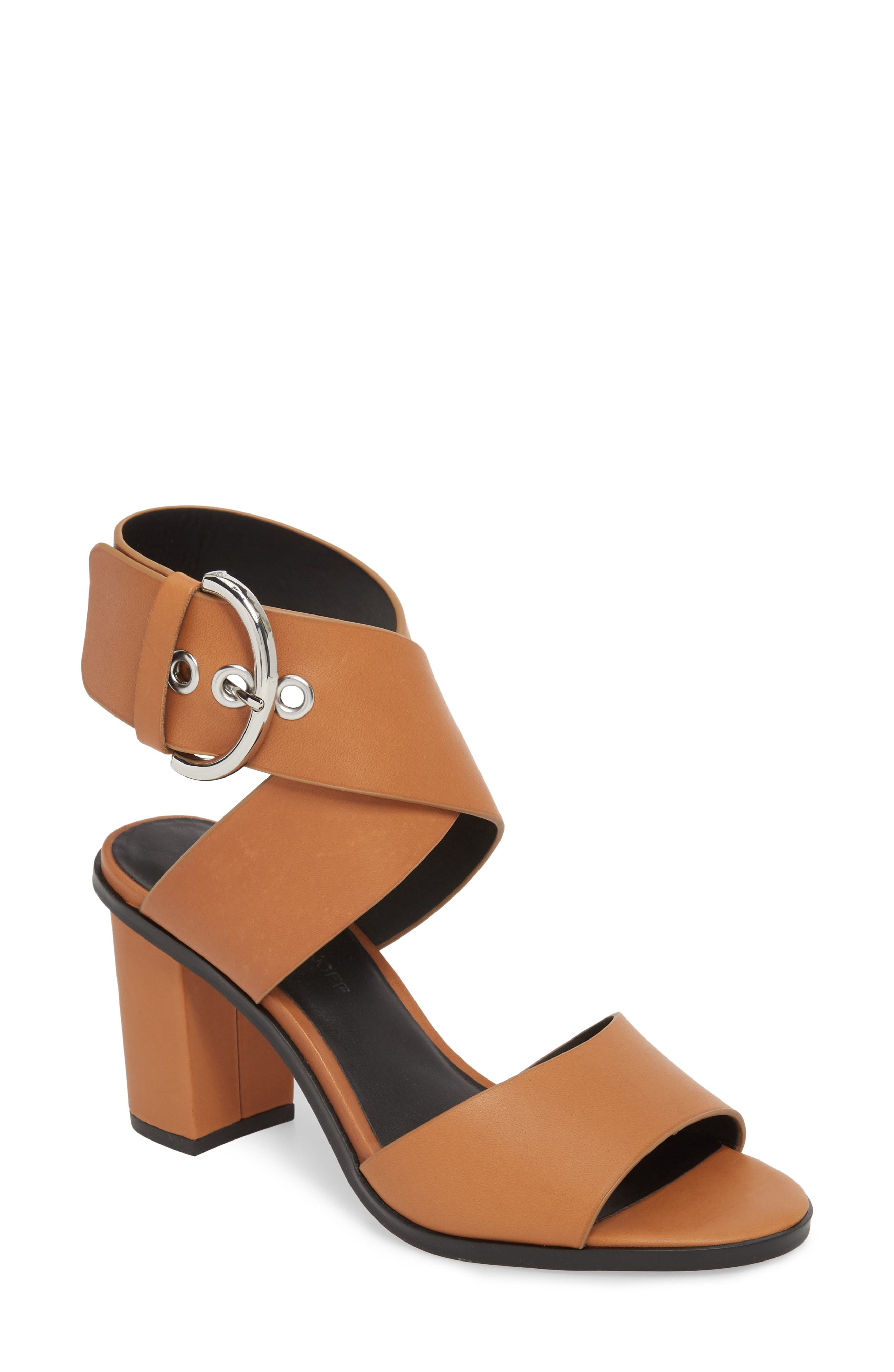 Valaree Sandal,                         Main,                         color, ALMOND LEATHER