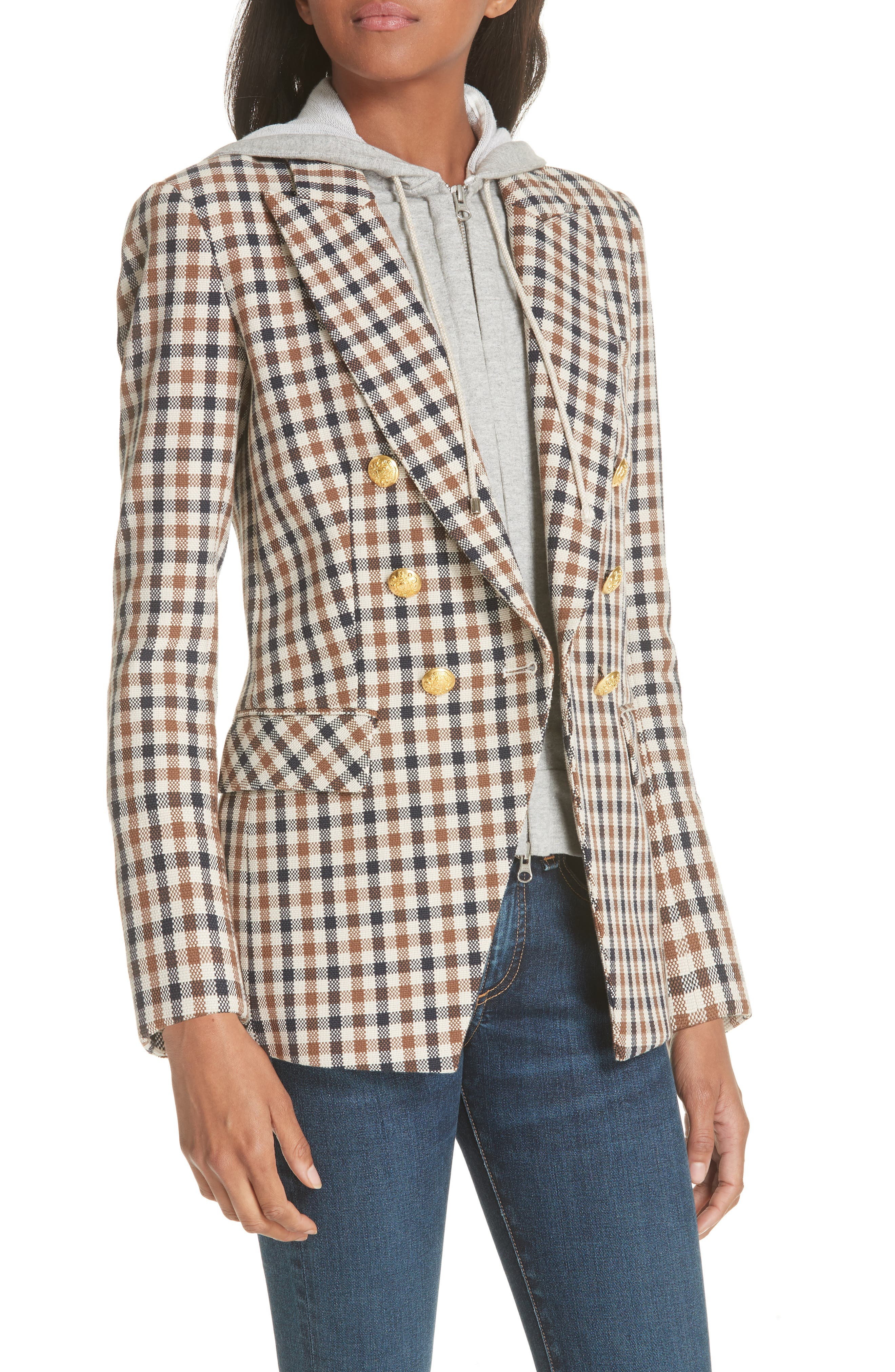 Lonny Houndstooth Dickey Jacket,                             Alternate thumbnail 4, color,                             241