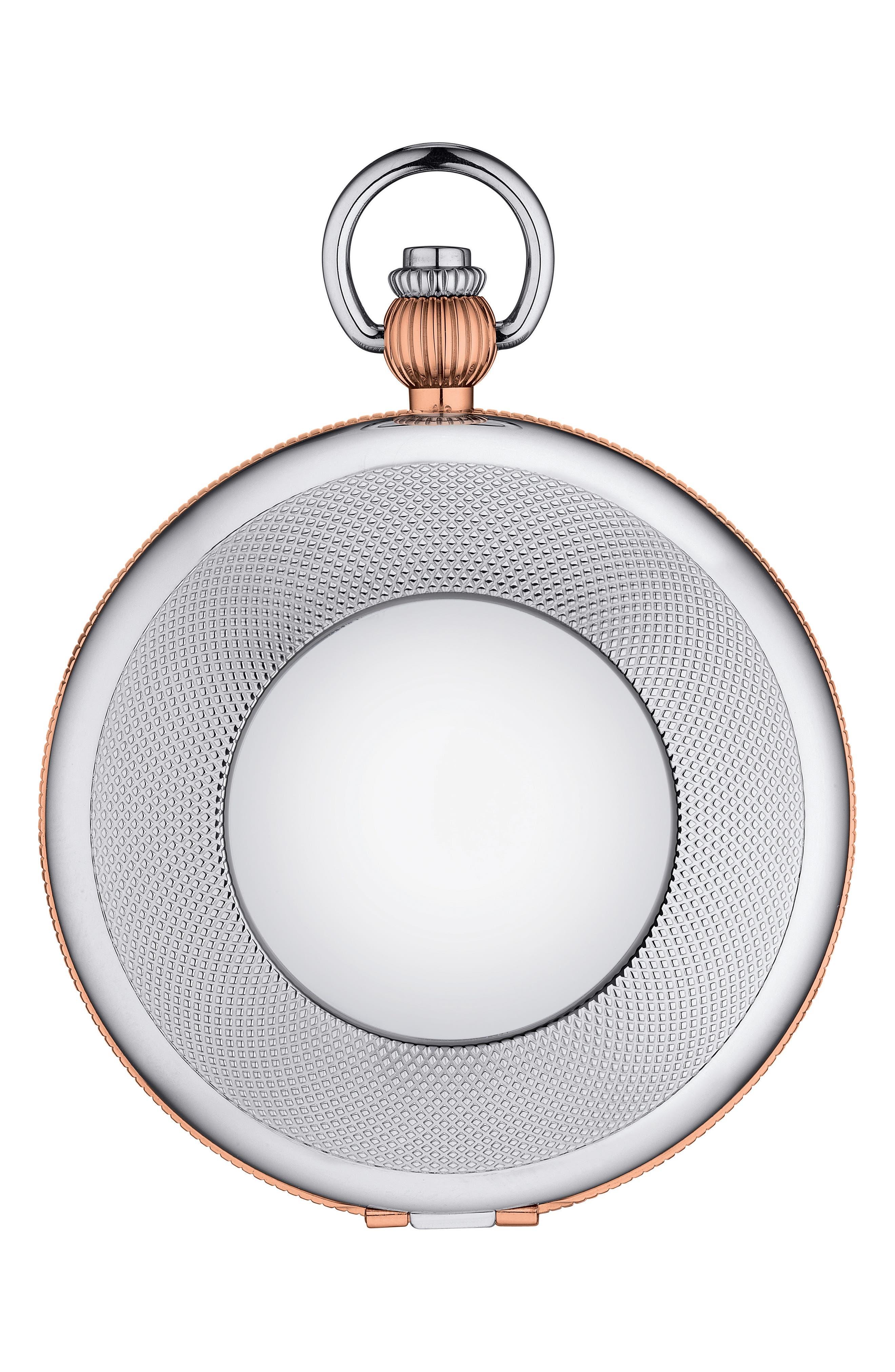 Bridgeport Mechanical Pocket Watch, 47mm,                             Alternate thumbnail 2, color,                             SILVER/ ROSE GOLD