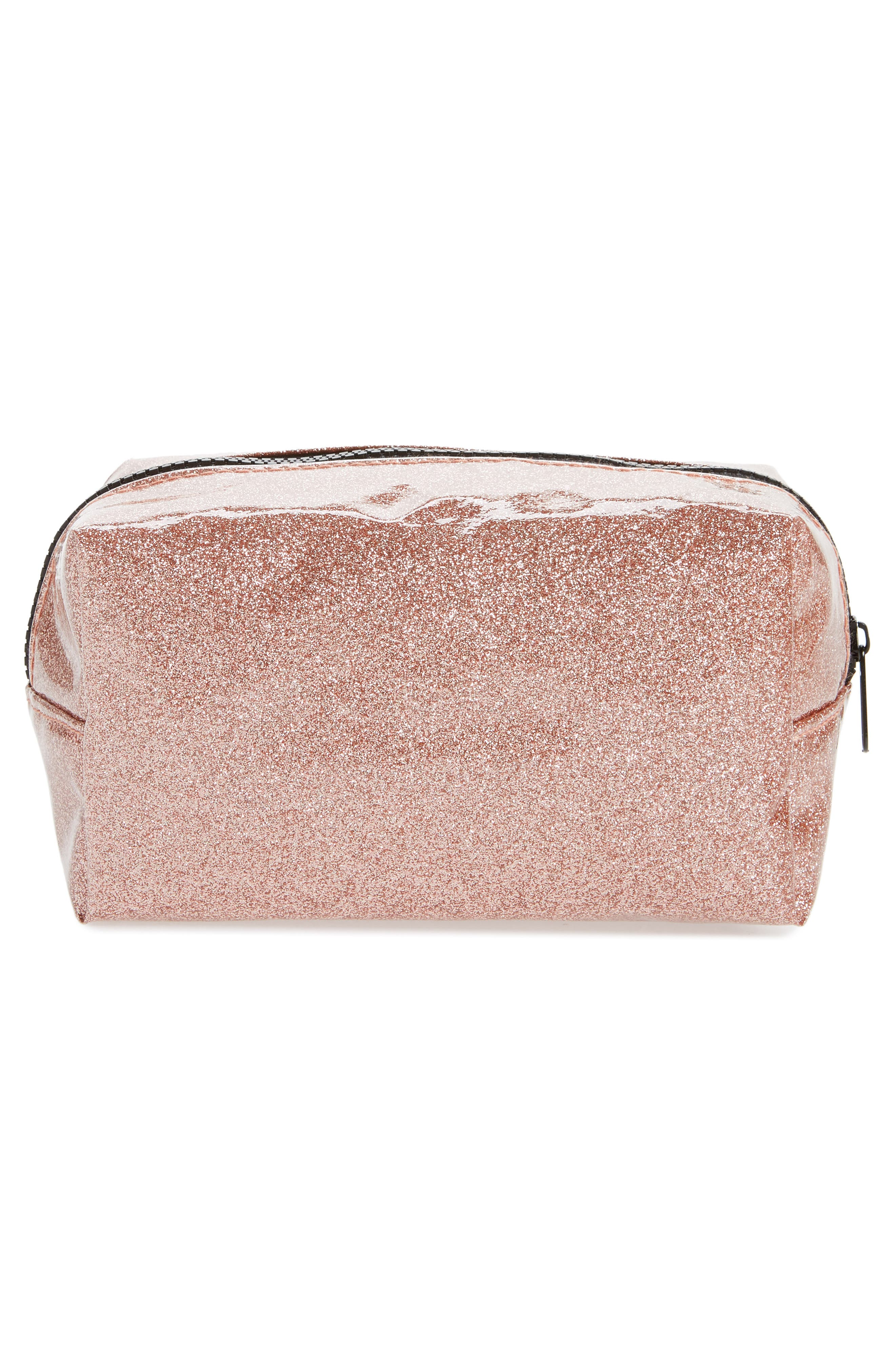 Cosmetics Case,                             Alternate thumbnail 2, color,                             ROSE GOLD