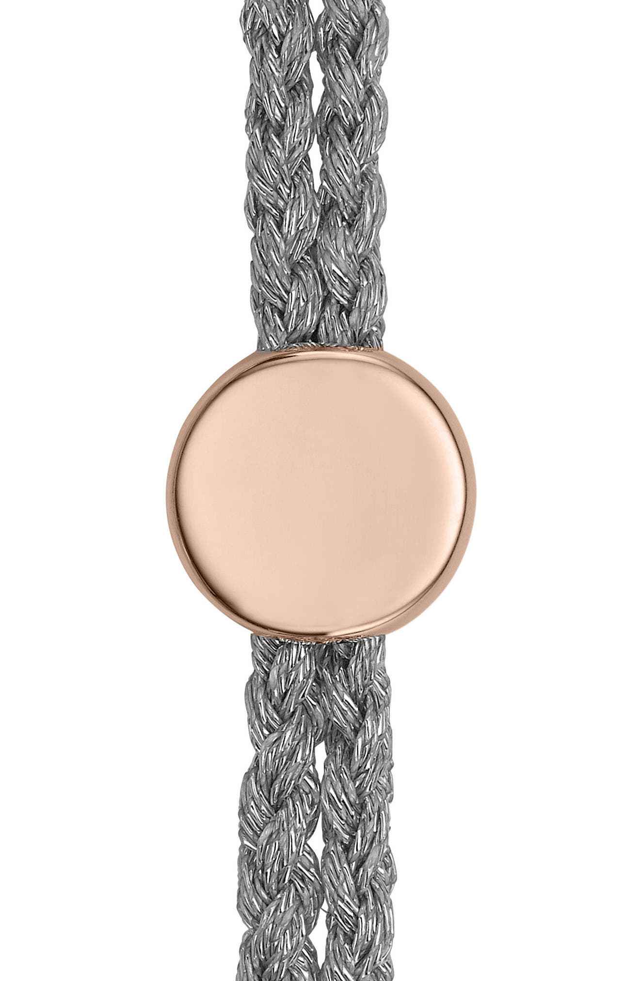 Engravable Linear Bead Friendship Bracelet,                             Alternate thumbnail 2, color,                             ROSE GOLD/ SILVER METALLIC