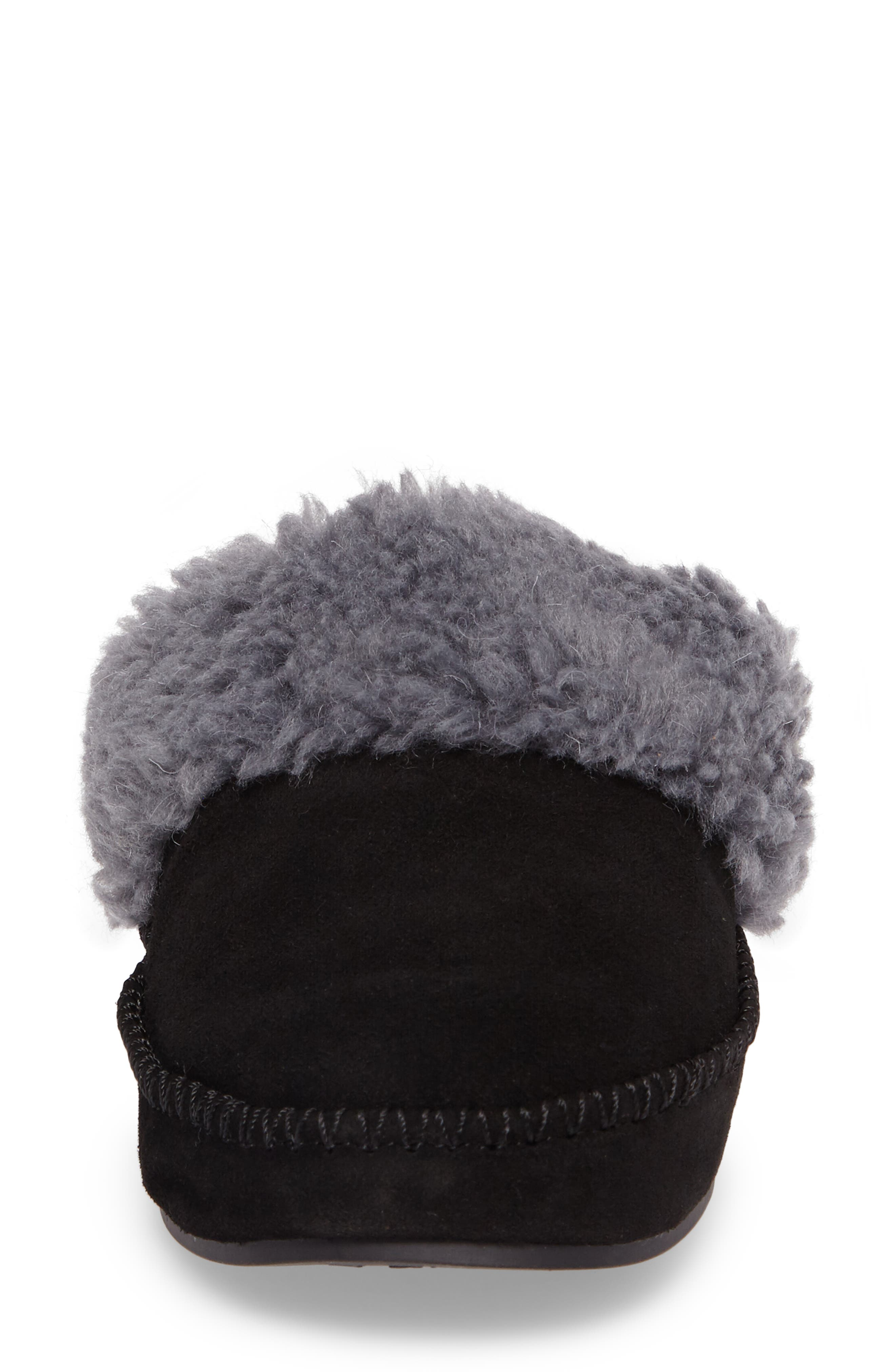 VIONIC,                             Marley Faux Fur Slipper,                             Alternate thumbnail 4, color,                             BLACK SUEDE