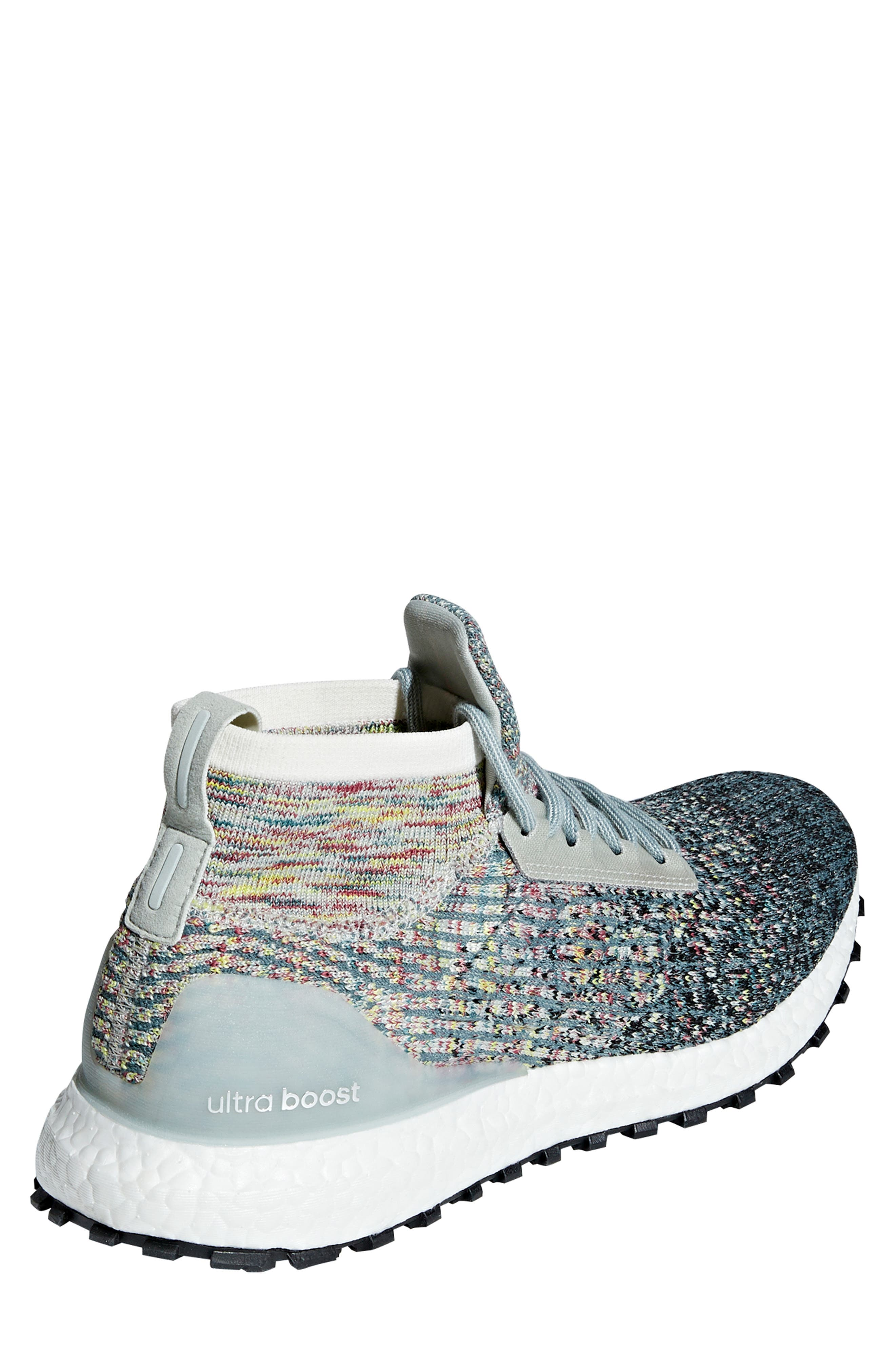 UltraBoost All Terrain LTD Running Shoe,                             Alternate thumbnail 2, color,                             ASH SILVER/ CARBON/ BLACK