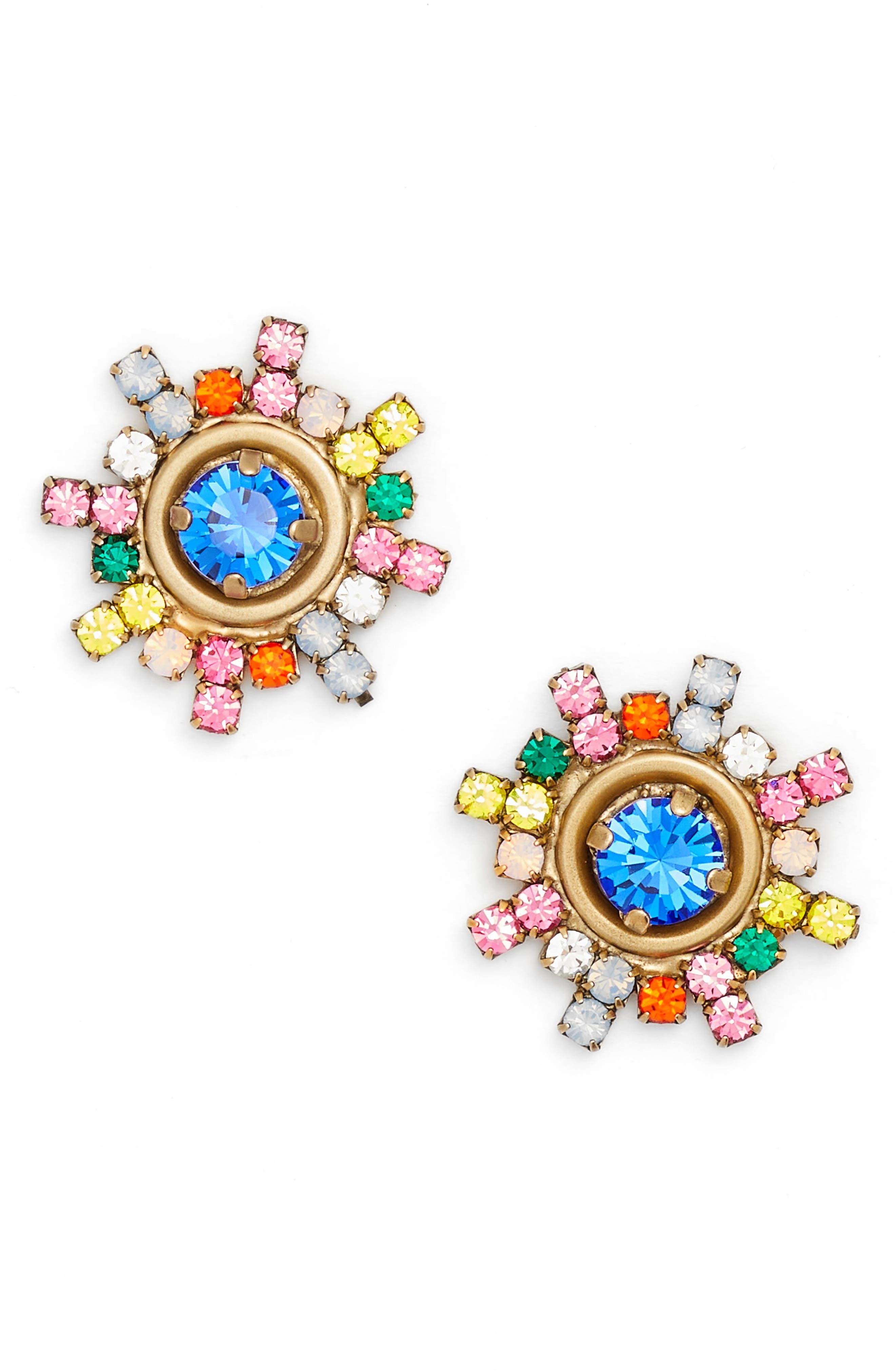 Isabel Stud Earrings,                             Main thumbnail 1, color,                             GOLD MULTI