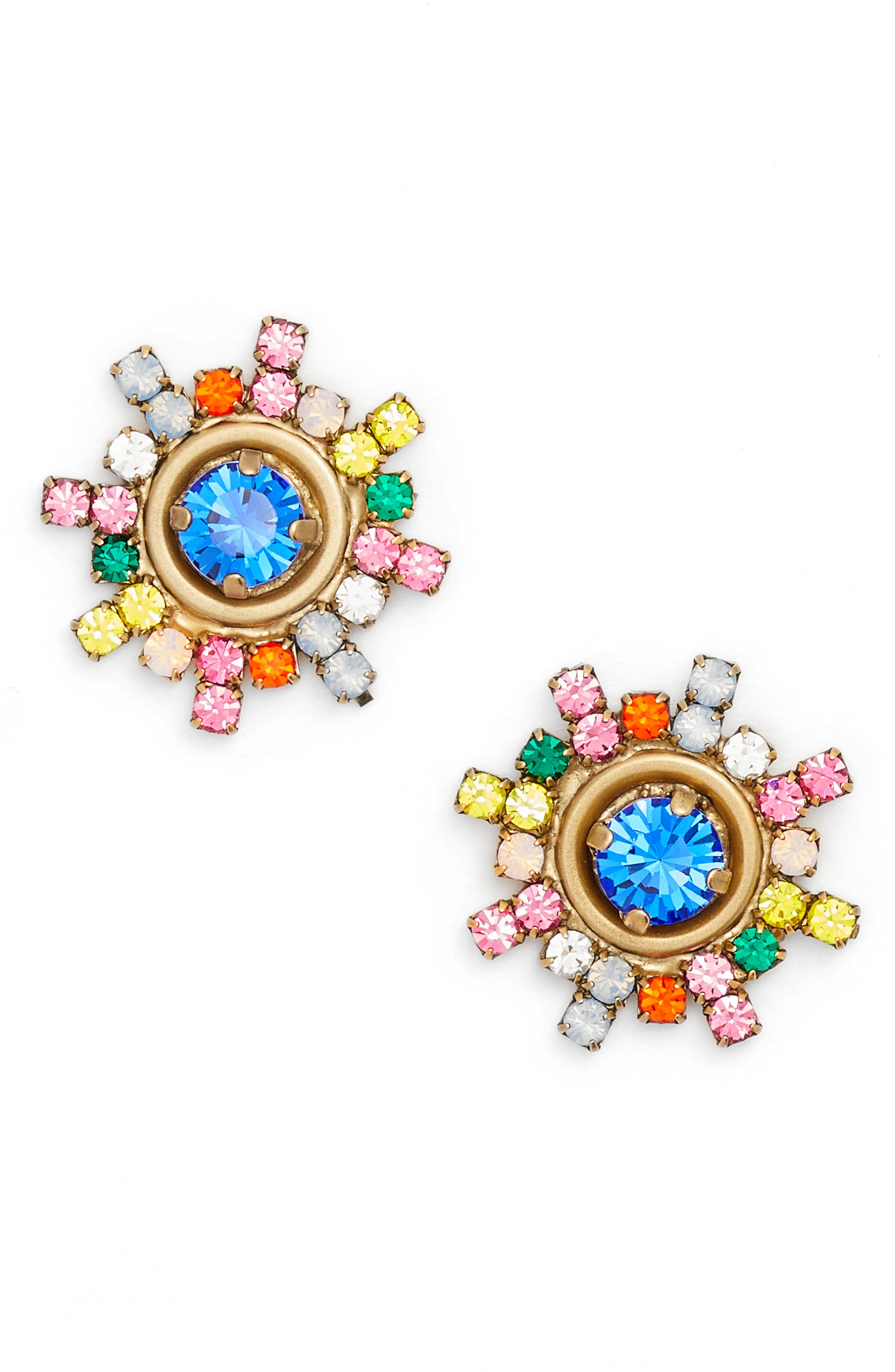 Isabel Stud Earrings,                         Main,                         color, GOLD MULTI