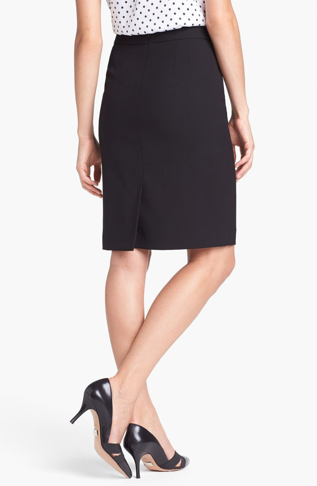 'Lucy - Seasonless Stretch' Pencil Skirt,                             Alternate thumbnail 5, color,                             001