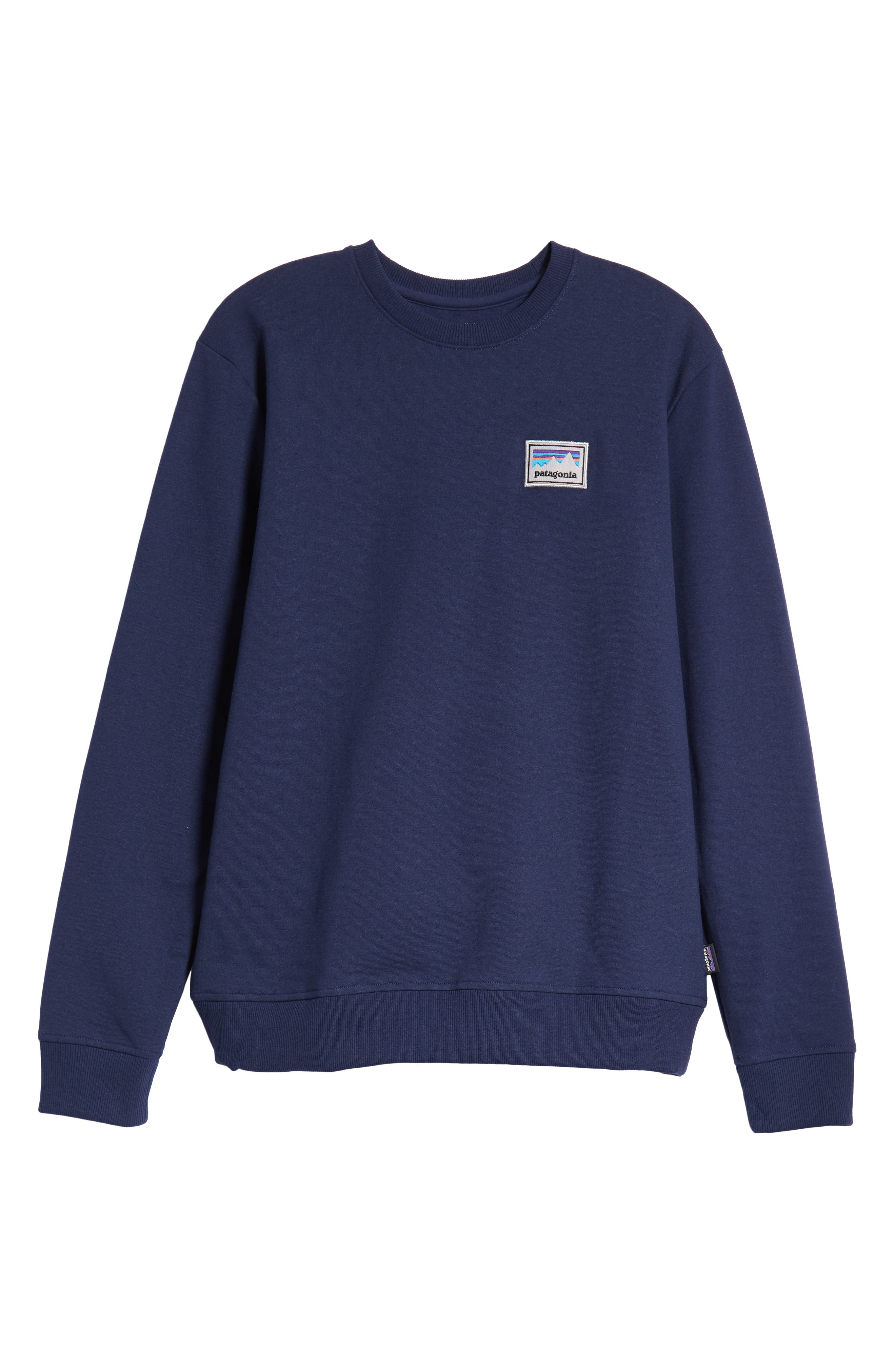 Shop Sticker Patch Uprisal Crew Sweatshirt,                             Alternate thumbnail 6, color,                             CLASSIC NAVY