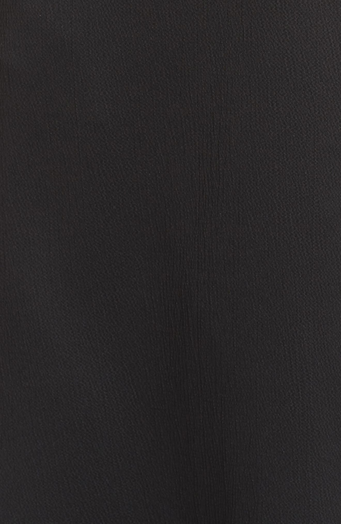 Maudie Ruffle Midi Dress,                             Alternate thumbnail 6, color,                             001