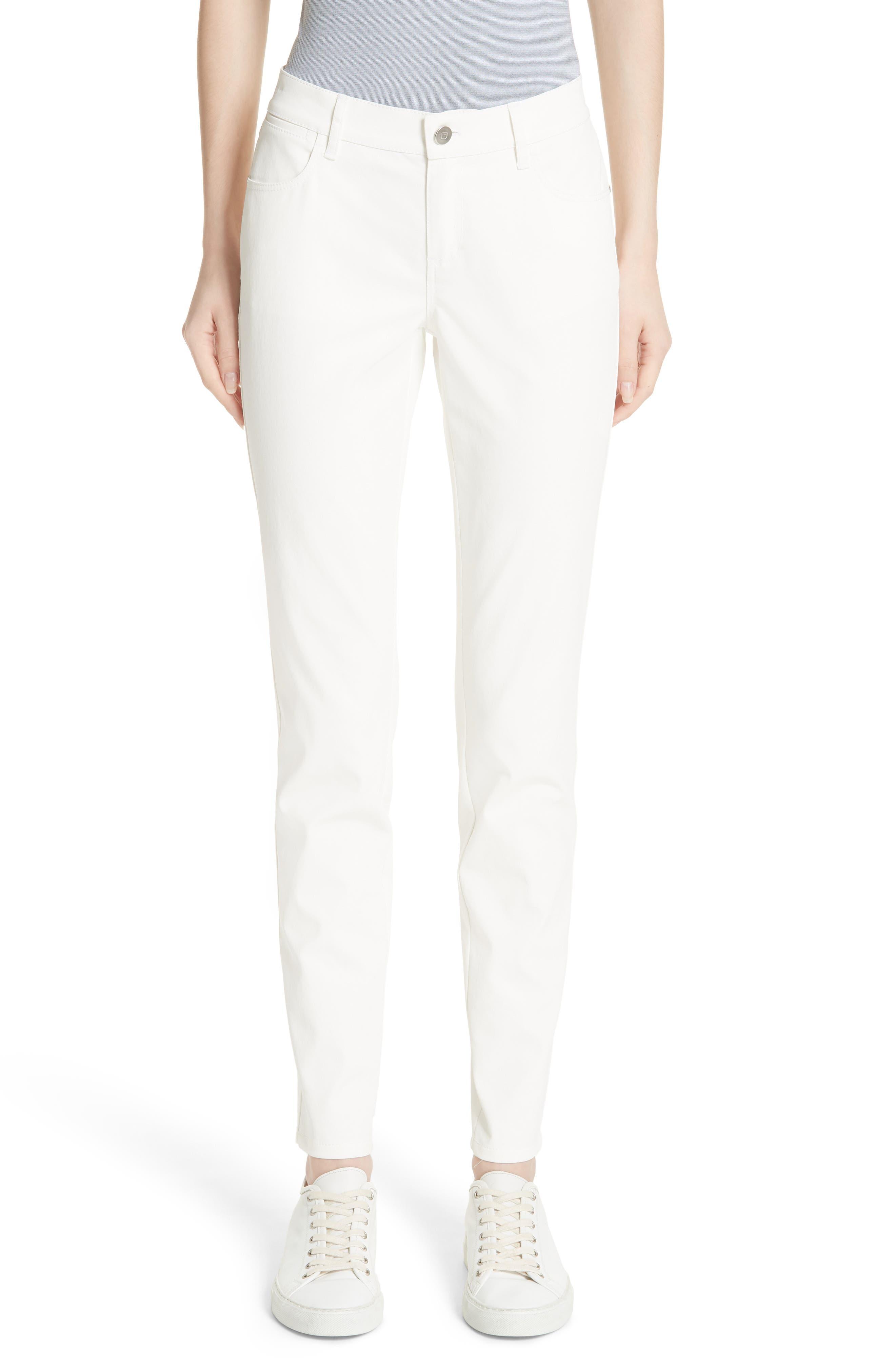 Mercer Waxed Denim Skinny Jeans in White