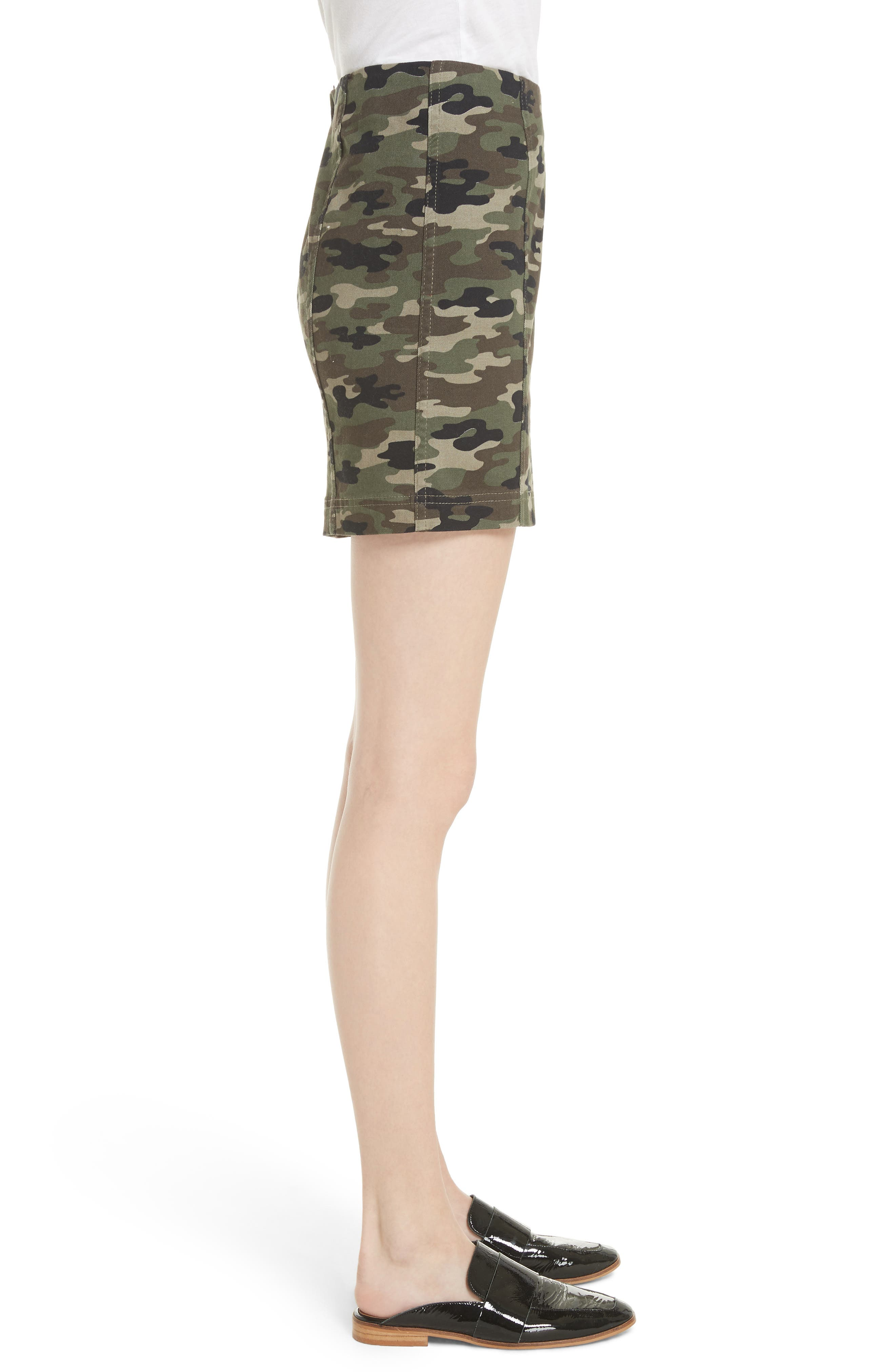 We the Free by Free People Modern Femme Camo Skirt,                             Alternate thumbnail 3, color,                             GREEN