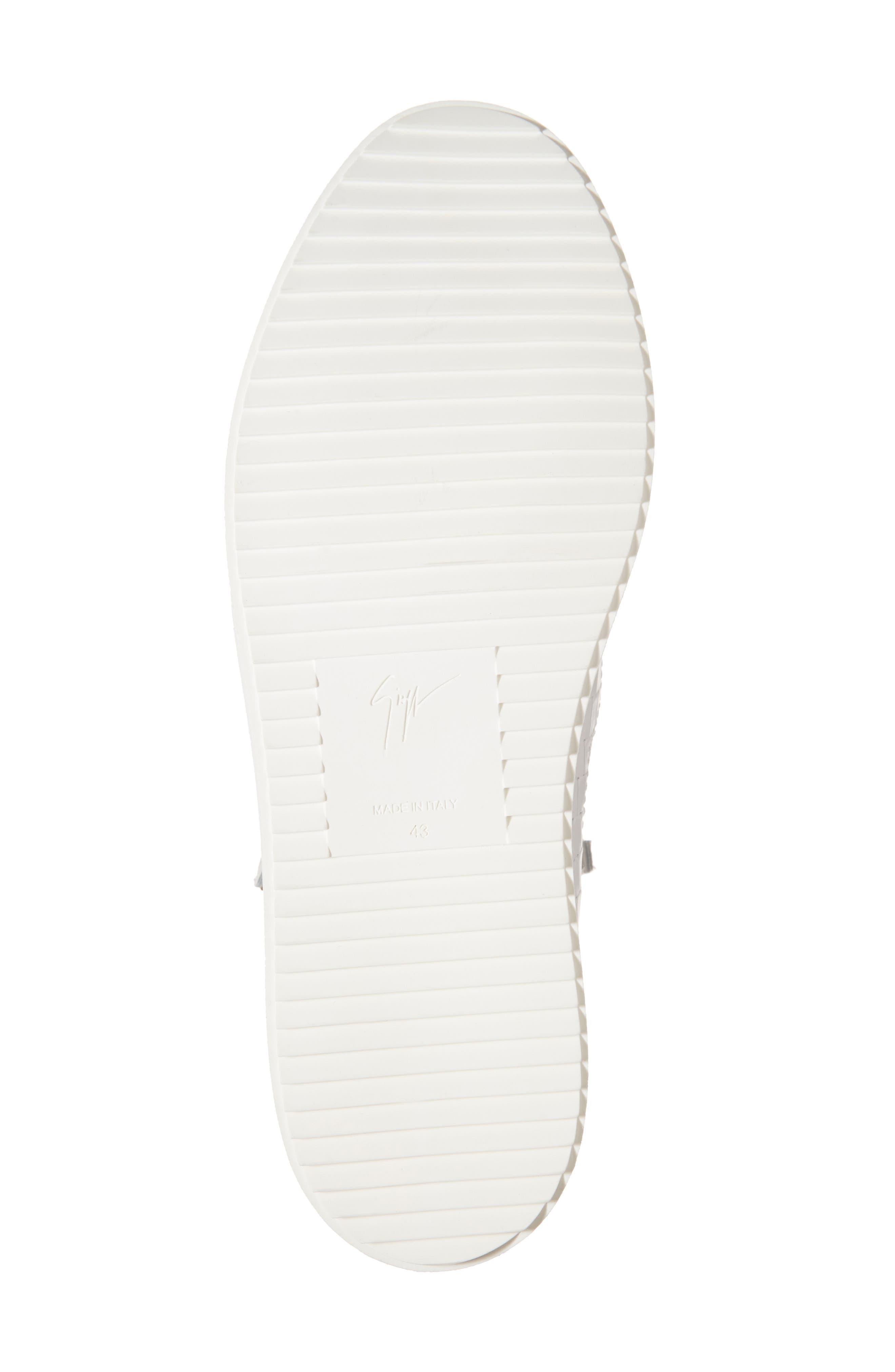 High-Top Sneaker,                             Alternate thumbnail 6, color,                             WHITE