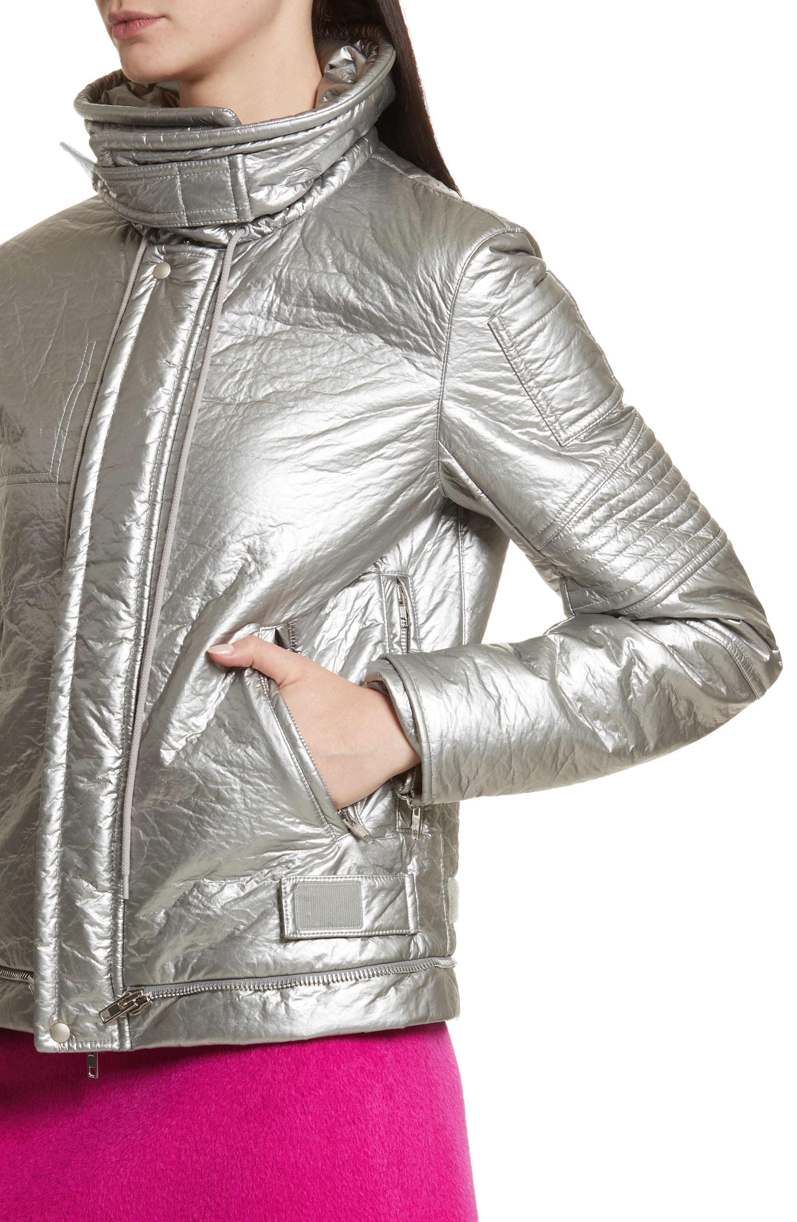 Re-Edition Astro Moto Jacket,                             Alternate thumbnail 4, color,                             SILVER