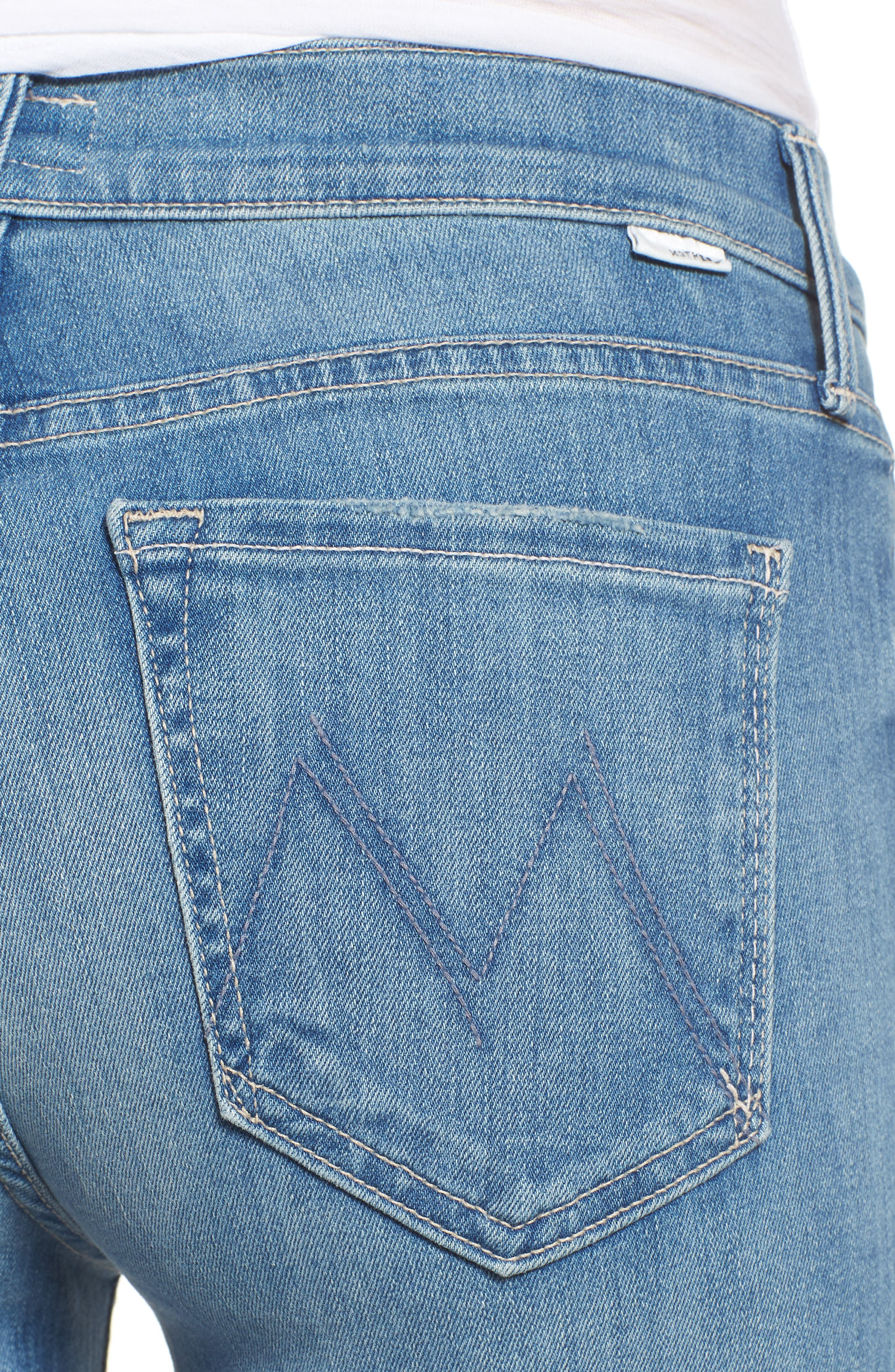 MOTHER,                             The Rascal Ankle Snippet Straight Leg Jeans,                             Alternate thumbnail 4, color,                             400