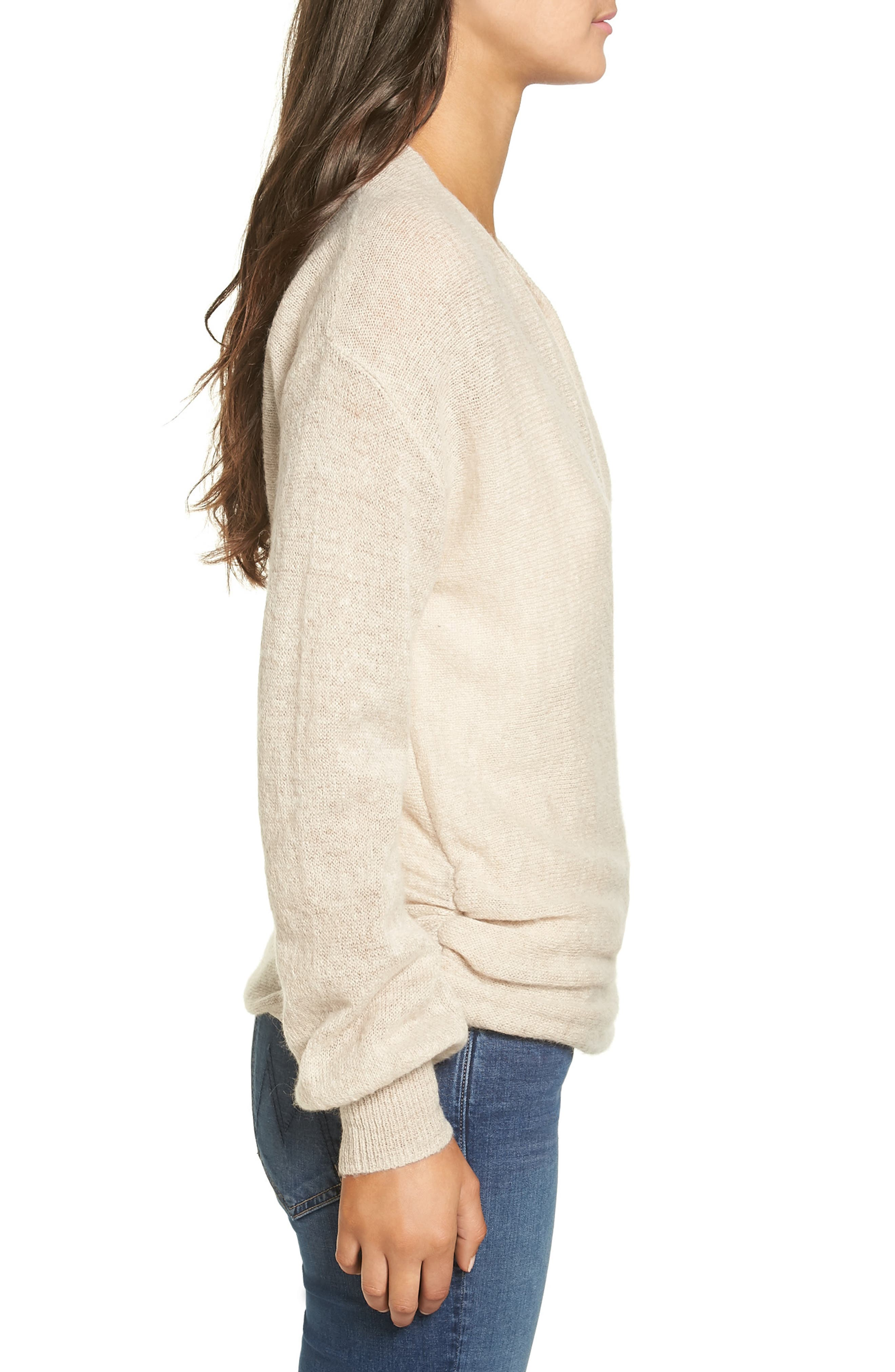 Wrap Front Sweater,                             Alternate thumbnail 3, color,                             235