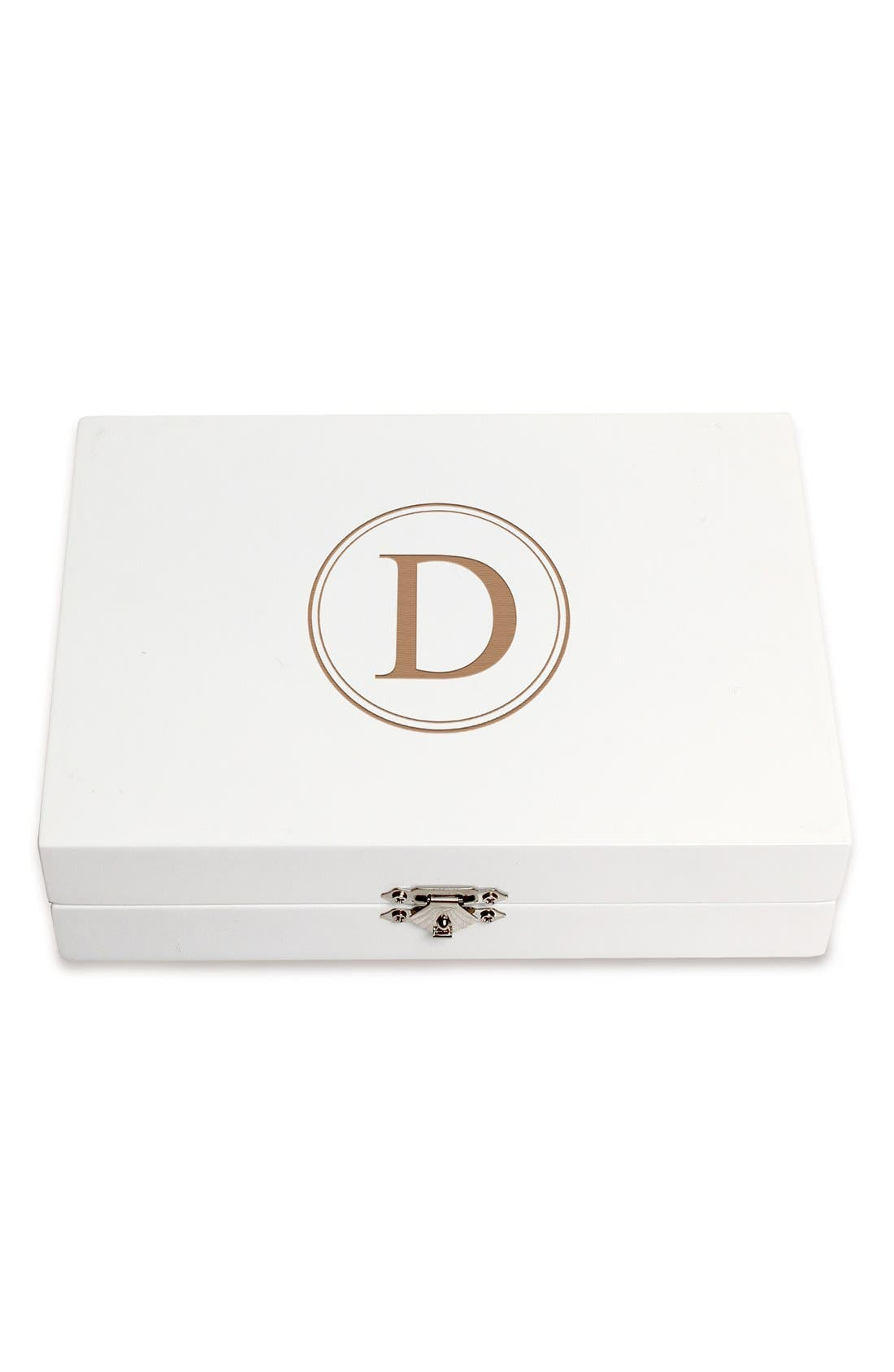 Monogram Wooden Jewelry Box,                             Main thumbnail 33, color,