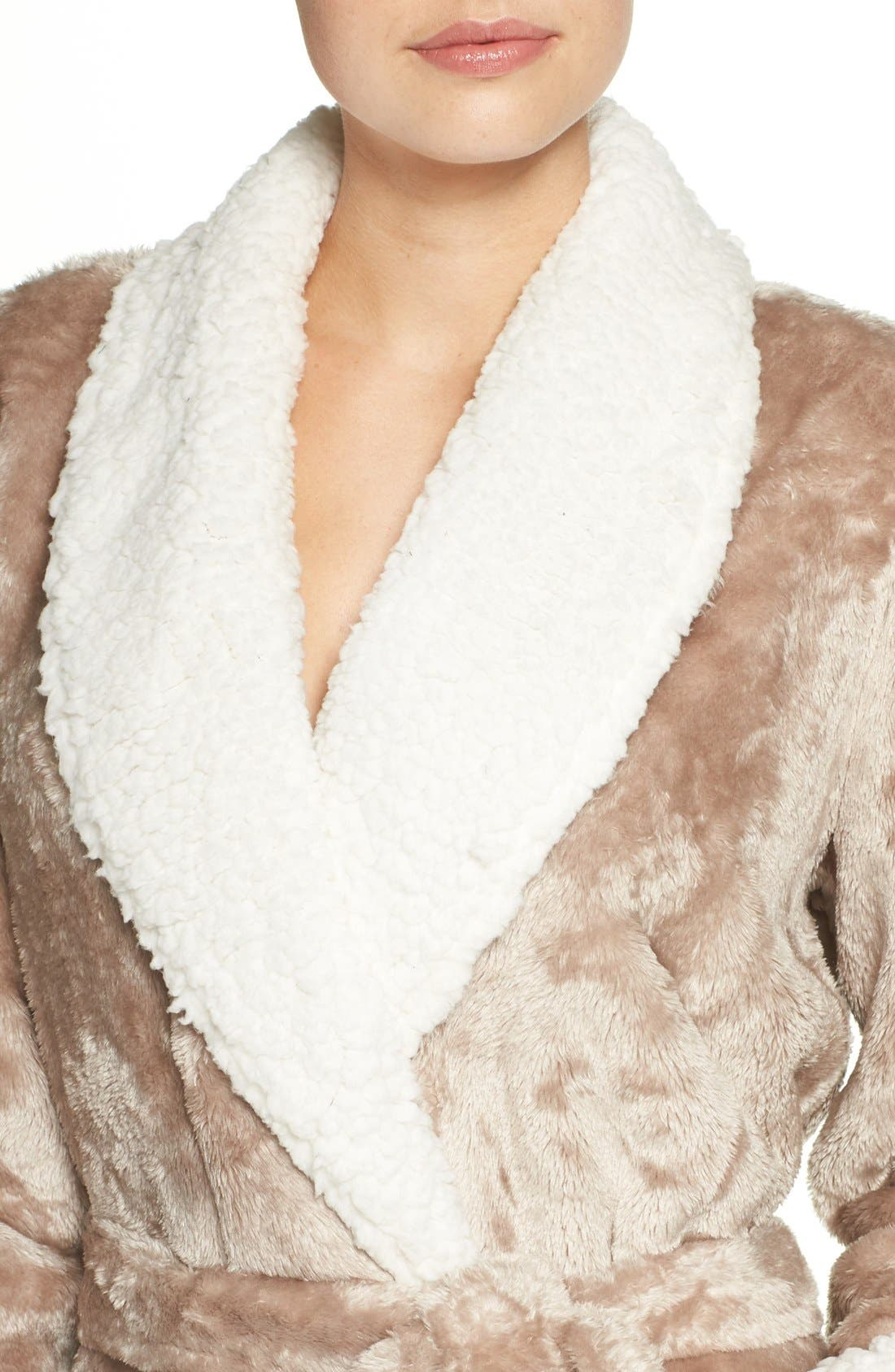 Frosted Plush Robe,                             Alternate thumbnail 17, color,
