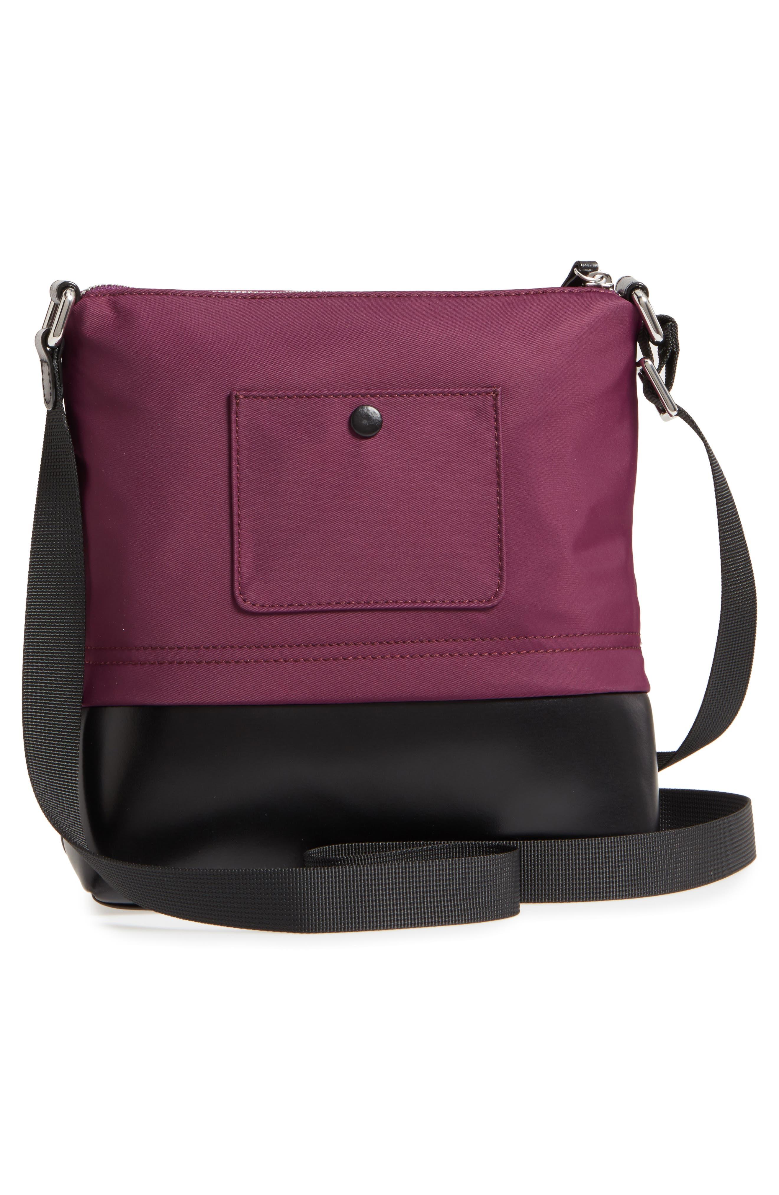 Wanda RFID Nylon & Leather Crossbody Bag,                             Alternate thumbnail 3, color,                             500