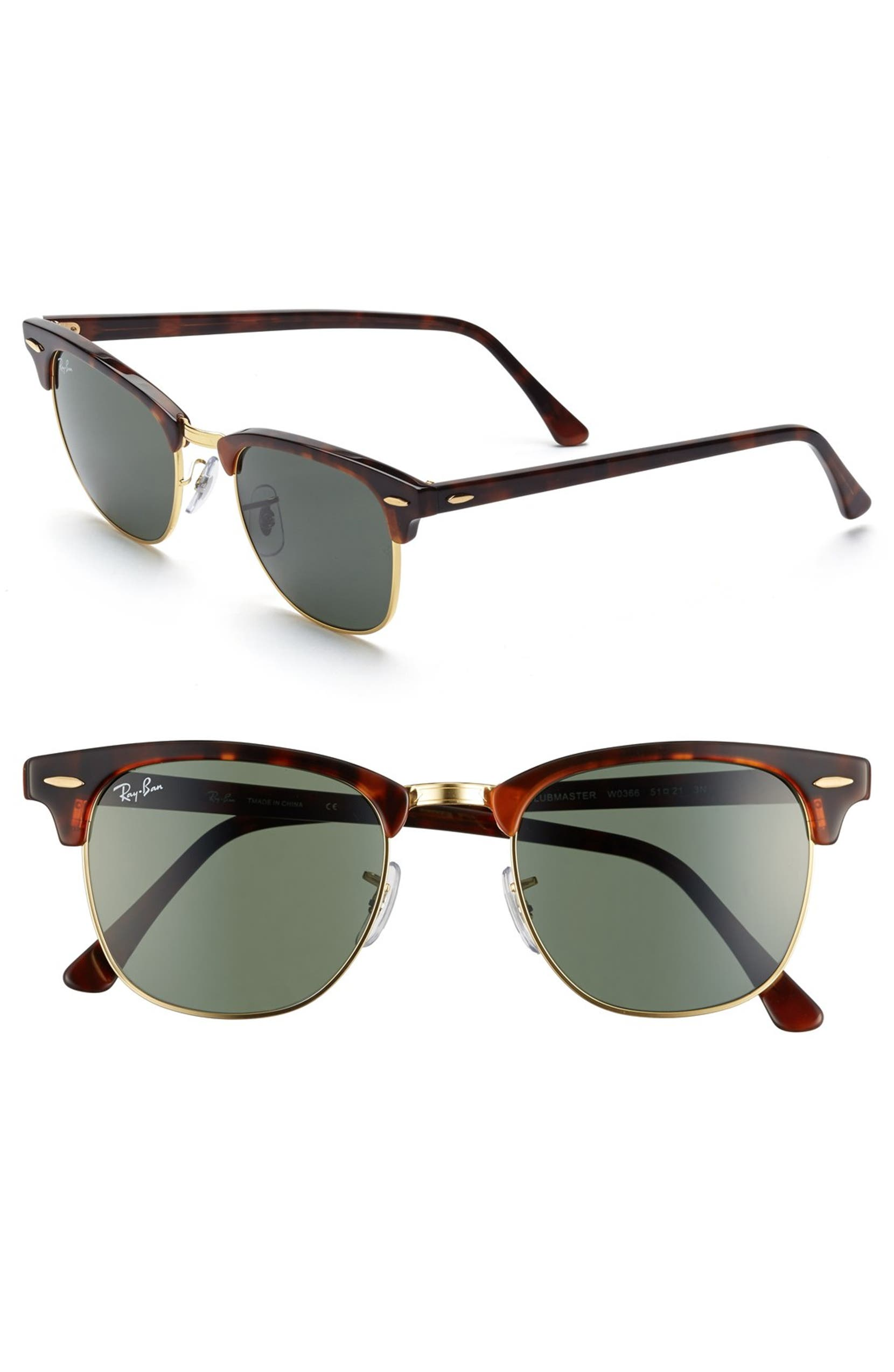 f61566b7a7 Ray-Ban Classic Clubmaster 51mm Sunglasses