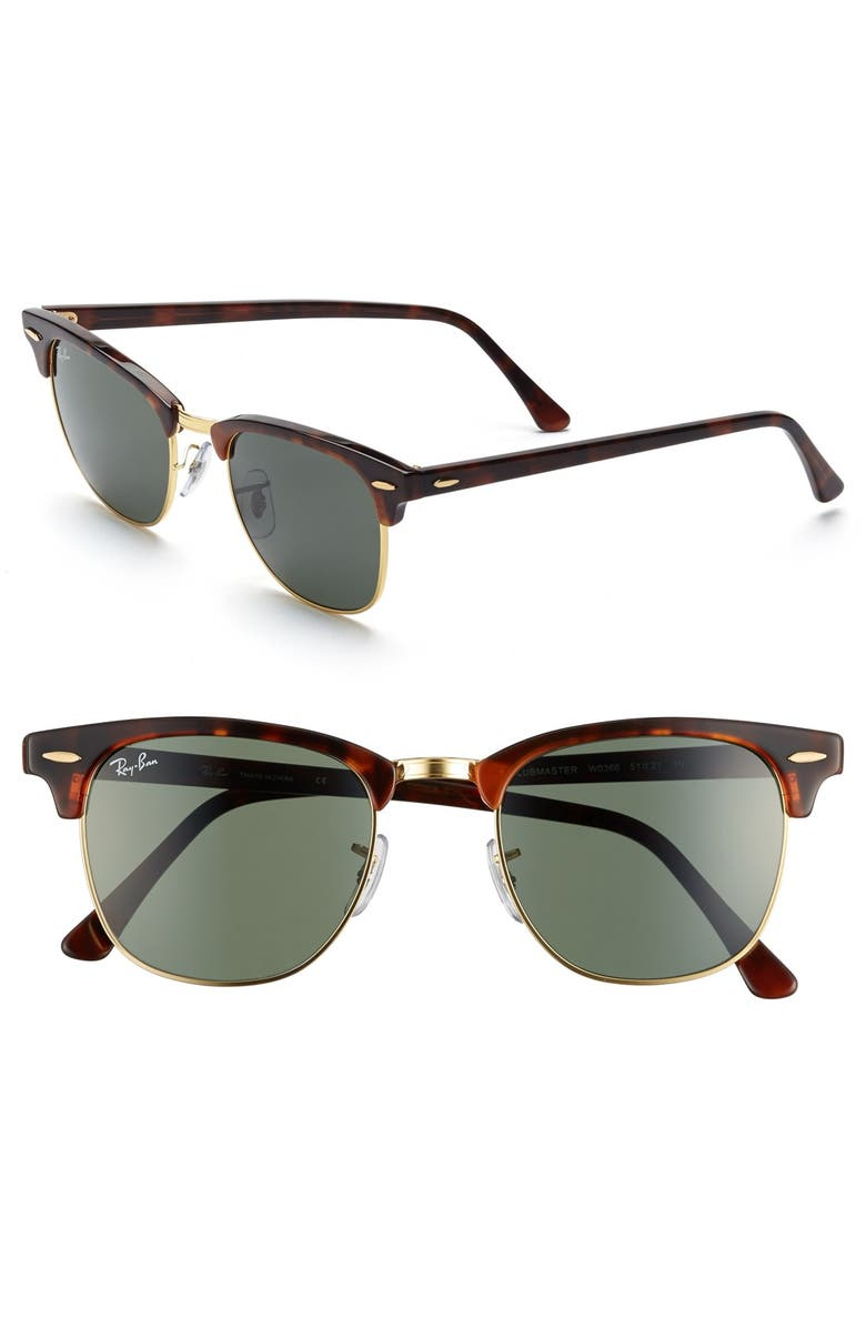 7960757556 Ray-Ban Classic Clubmaster 51mm Sunglasses