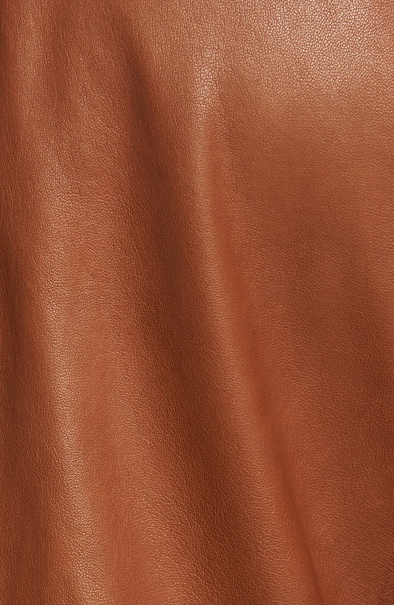 Leather Moto Jacket,                             Alternate thumbnail 6, color,                             240