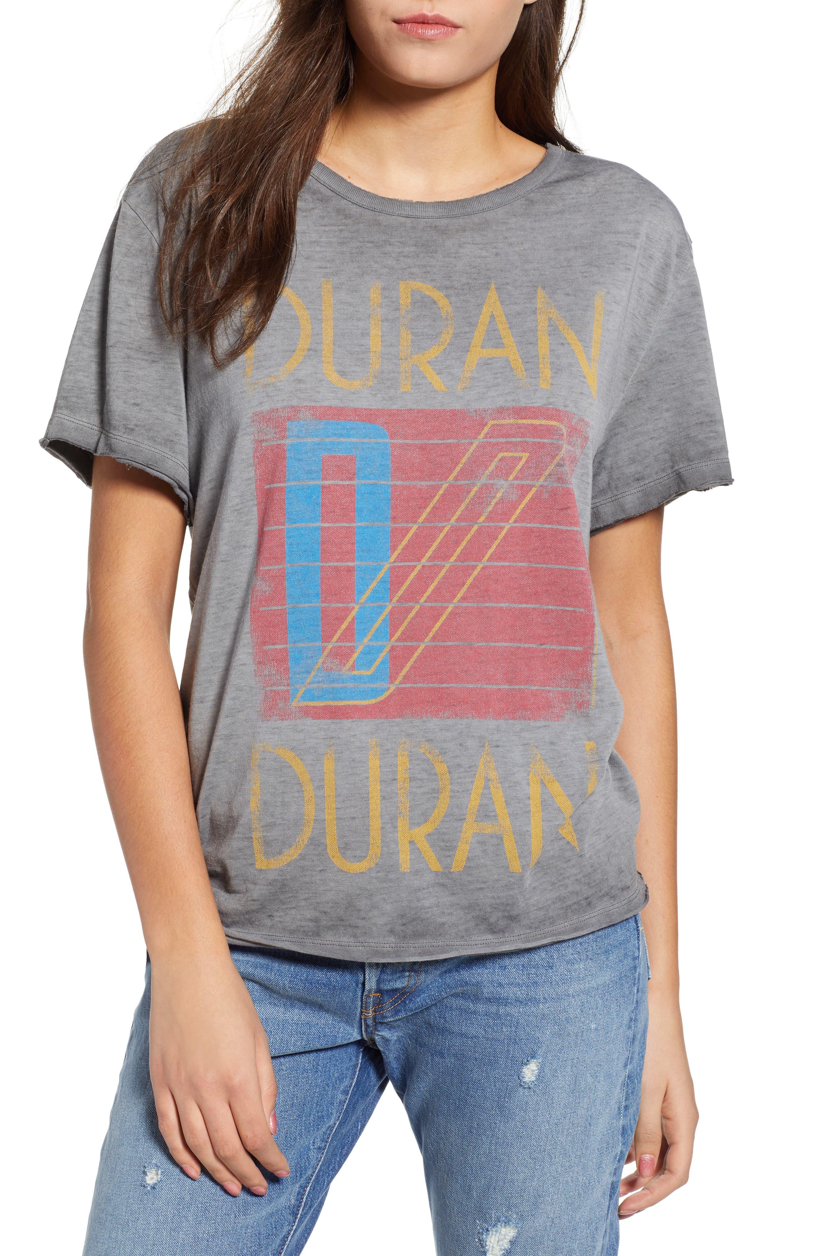 Duran Duran Tee,                             Main thumbnail 1, color,                             GREY