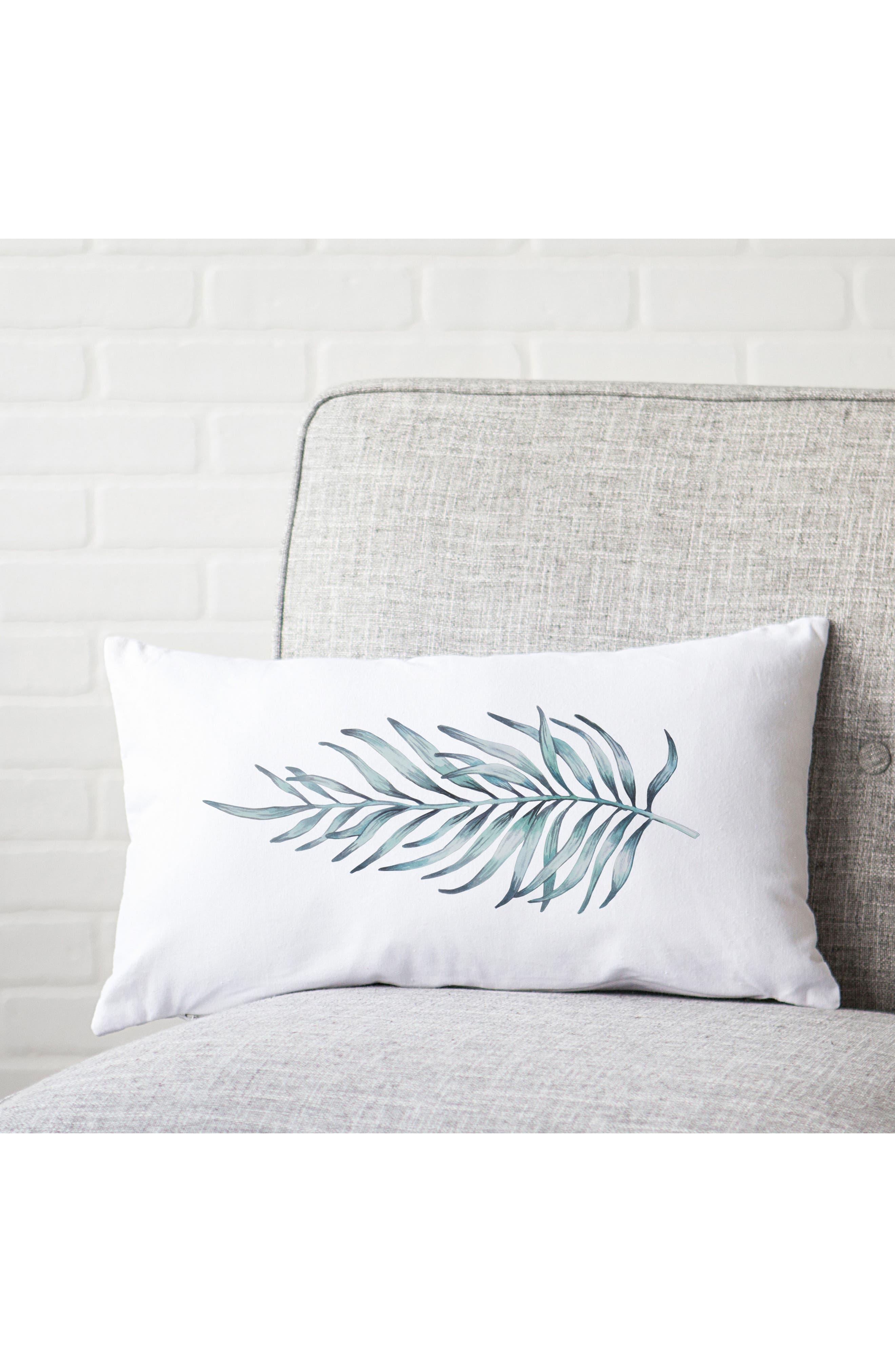 Palm Leaf Lumbar Accent Pillow,                             Alternate thumbnail 4, color,                             300