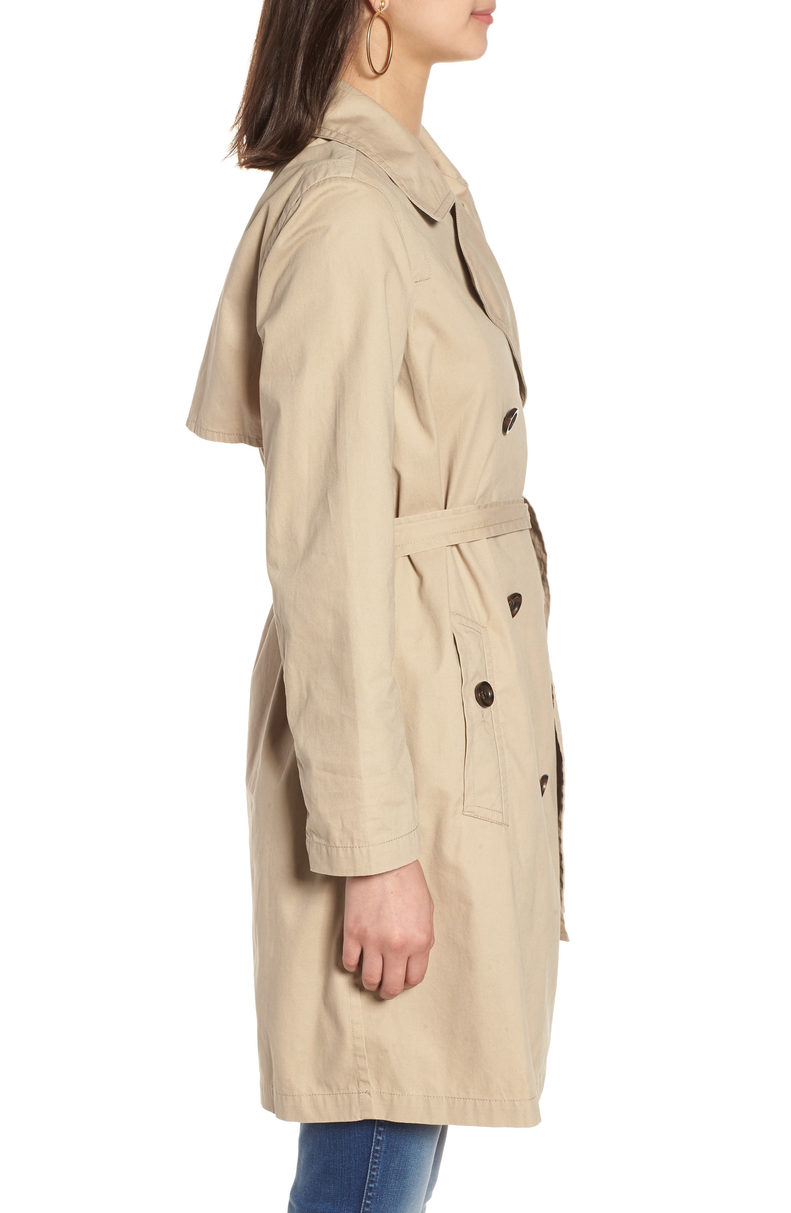 MADEWELL,                             Abroad Trench Coat,                             Alternate thumbnail 3, color,                             250